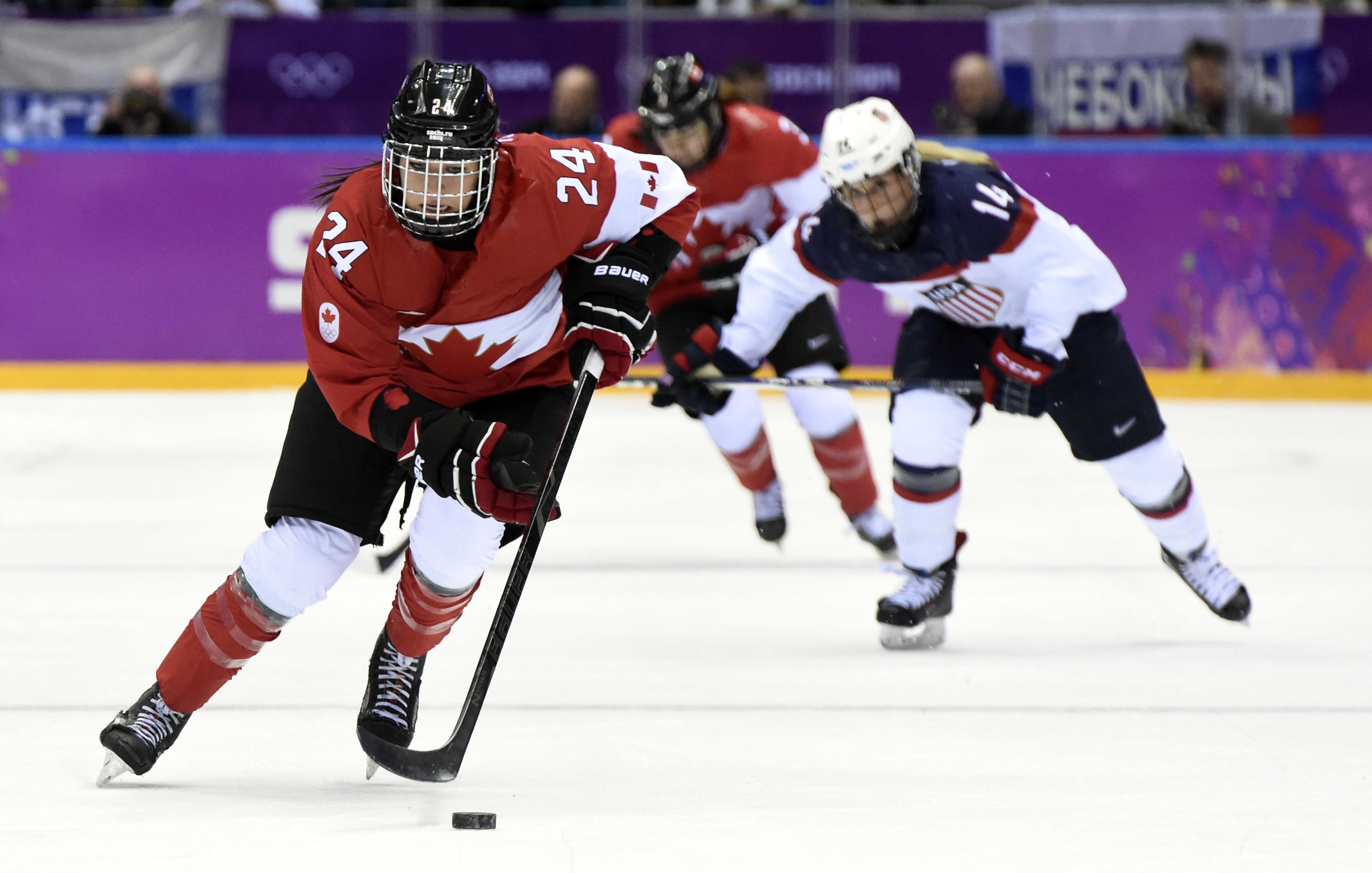 Natalie Spooner leads Team Canada in offense with three points through three games, as the Canadians face the U.S. once more for gold in the 4 Nations Cup championship game Sunday.