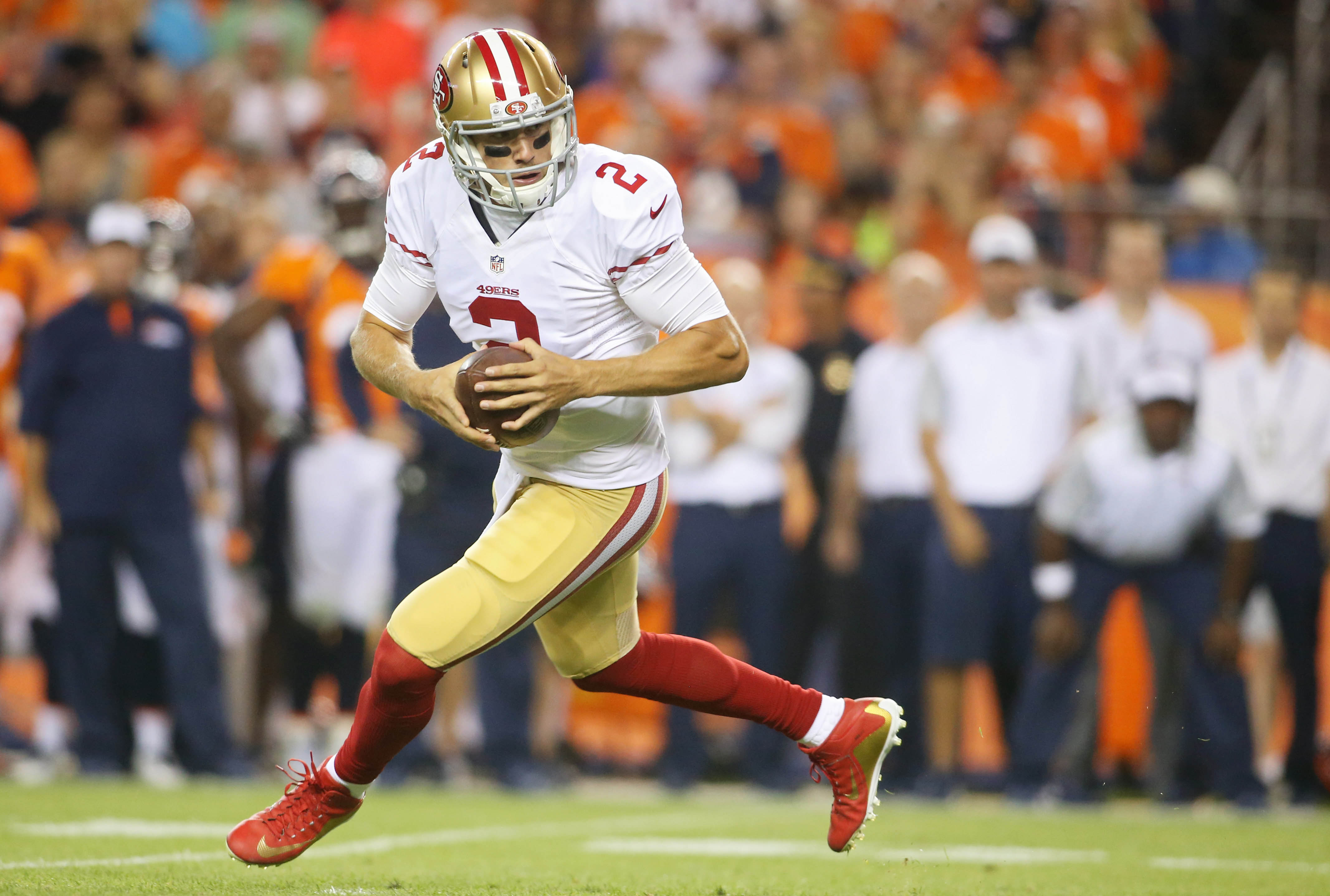 Whoa there, MF. Blaine Gabbert is now the starting quarterback for the reeling San Francisco 49ers. Fun times.