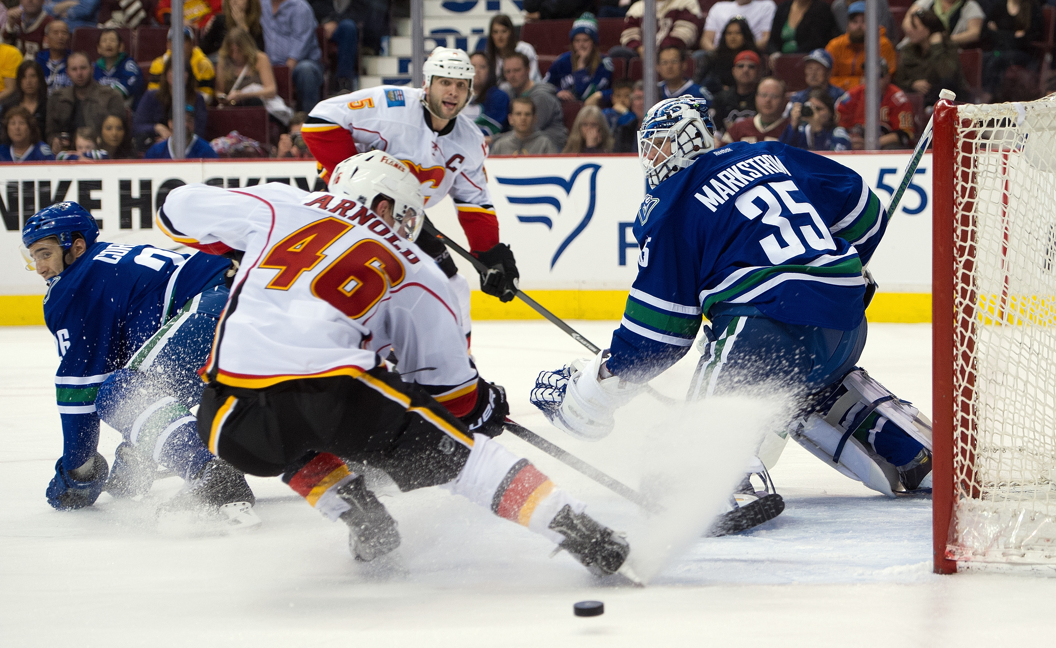 Bill Arnold and the Heat created chances but came up scoreless against the Ontario Reign Saturday night.