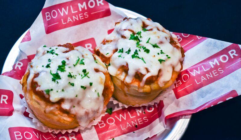 Pizza cupcakes at Bowlmor