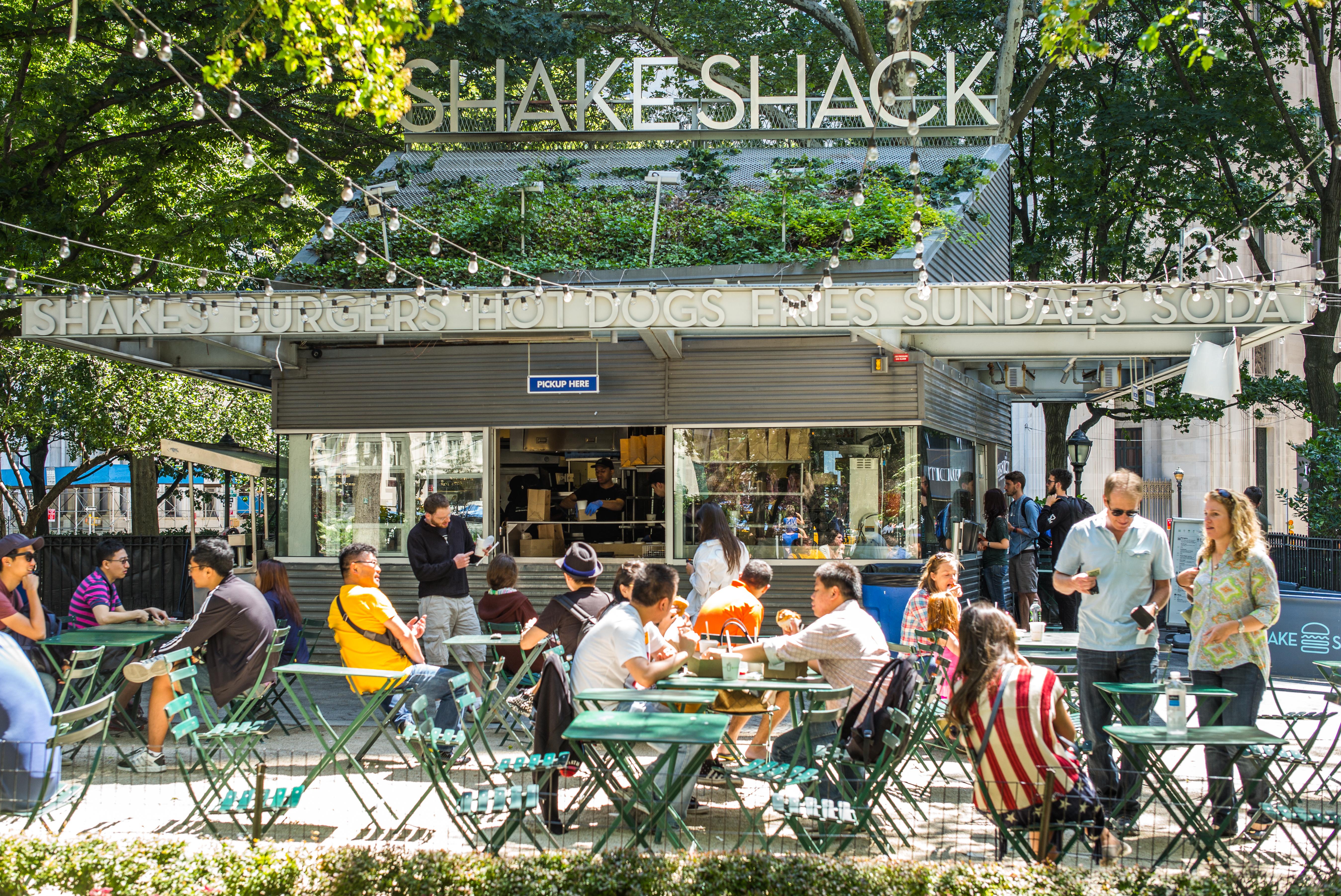 The original Shake Shack in Madison Square Park.