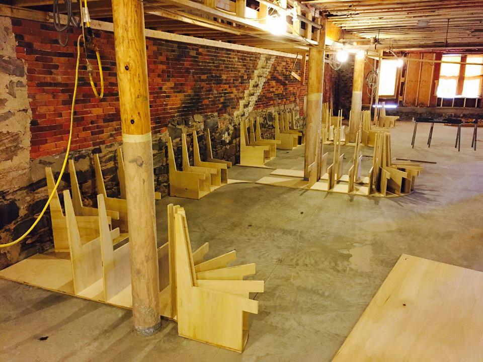 Rhum under construction in Portland.