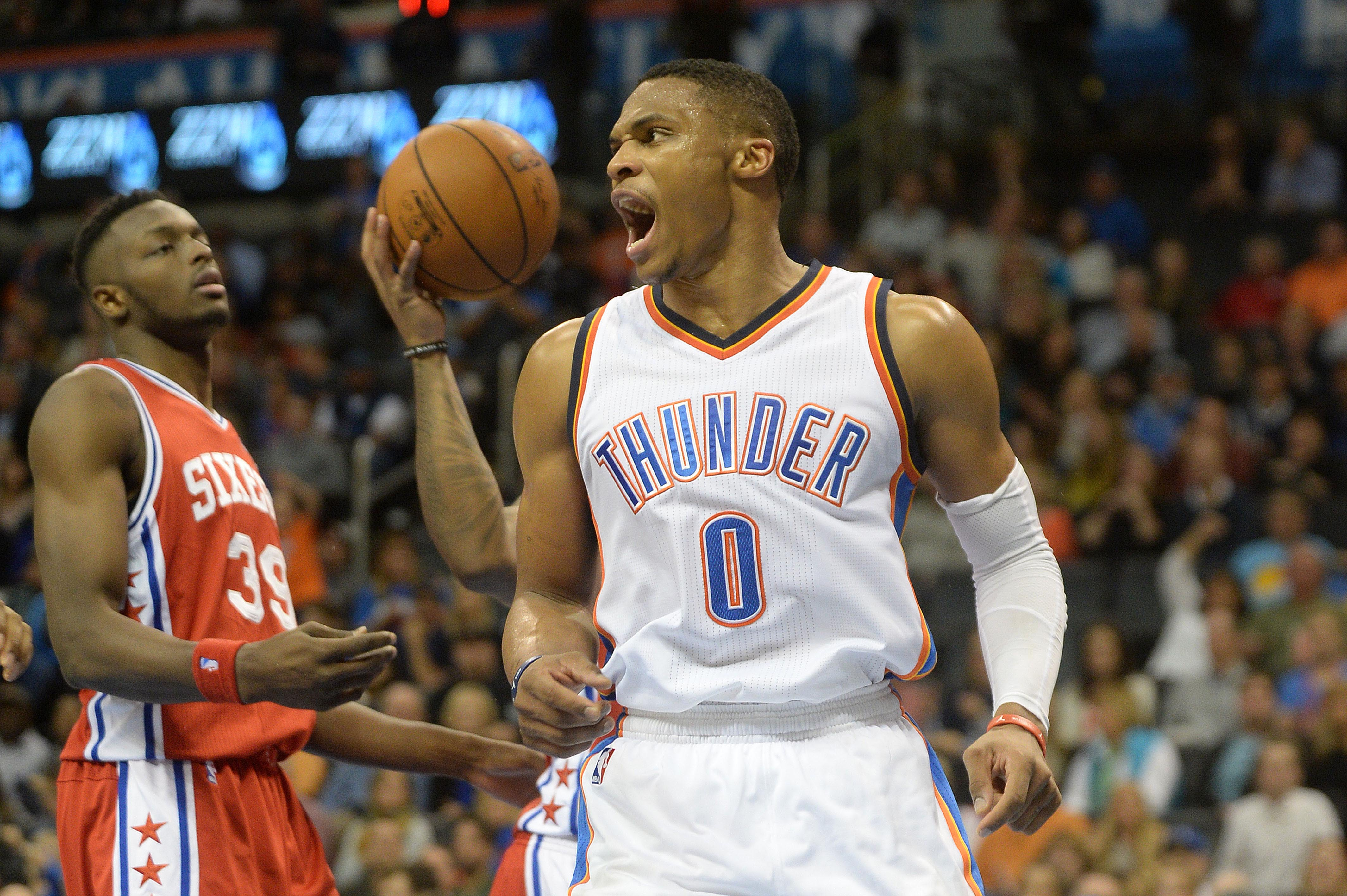 Westbrook having three arms might explain some things.