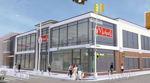 A rendering of Boerum Hill's new Michael's.