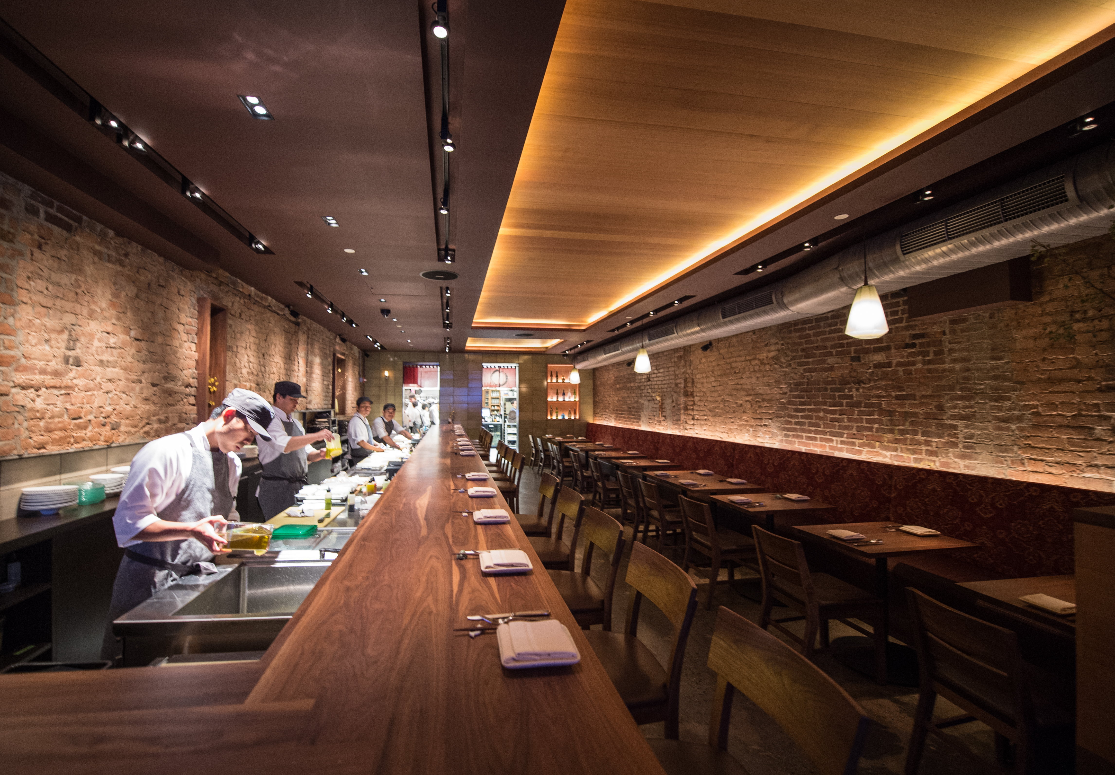 [The sushi bar at O Ya. It's a splurge, but this is a great place for a special occasion/celebratory dinner.]