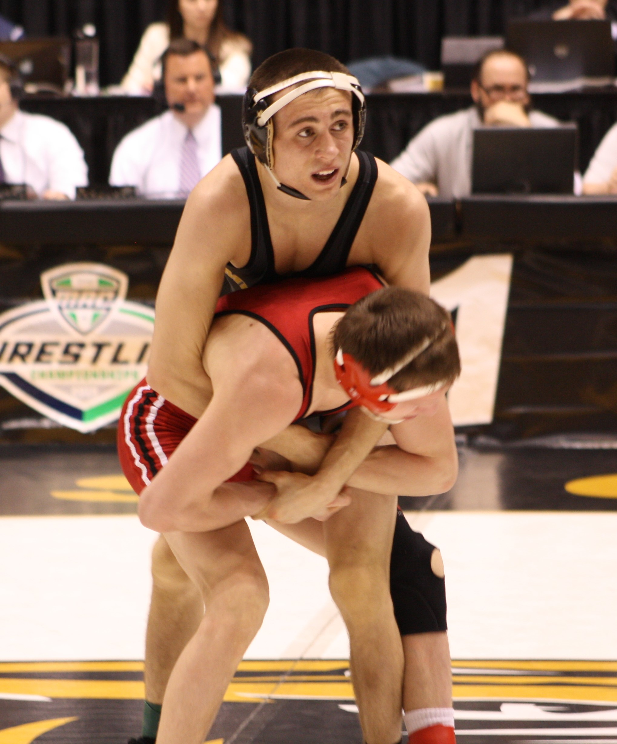 Zach Synon is one of two wrestlers who are ranked at the top of their weight class in the MAC rankings