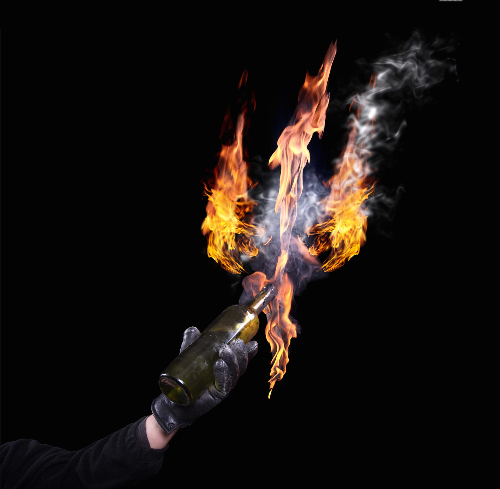 Empire Café hit with molotov cocktail