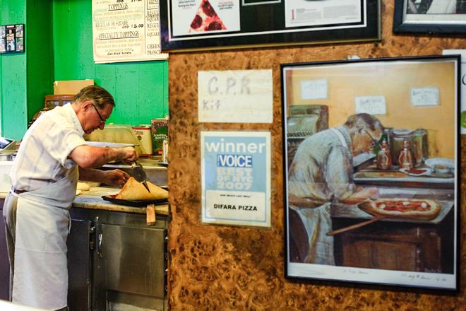 Dom De Marco, making pizza since 1965