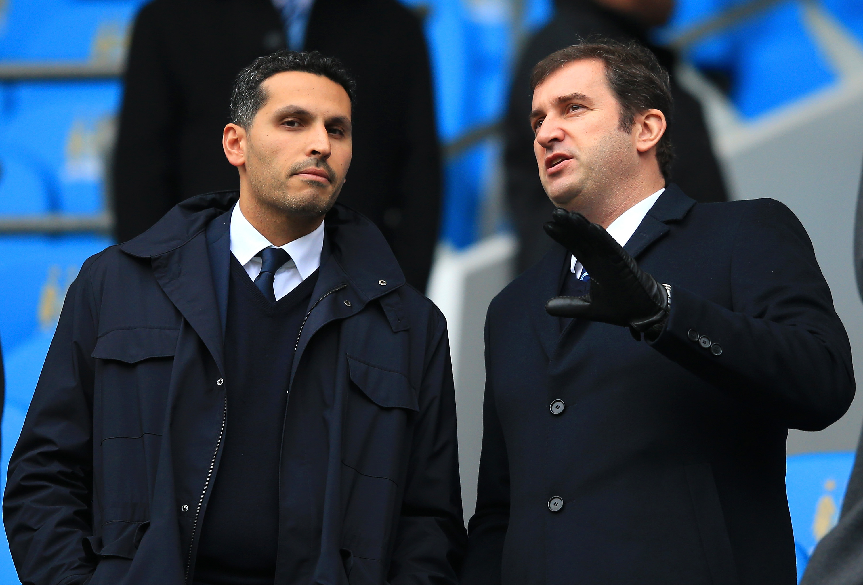 CFG chairman Khaldoon al Mubarak (left) and CEO Ferran Soriano