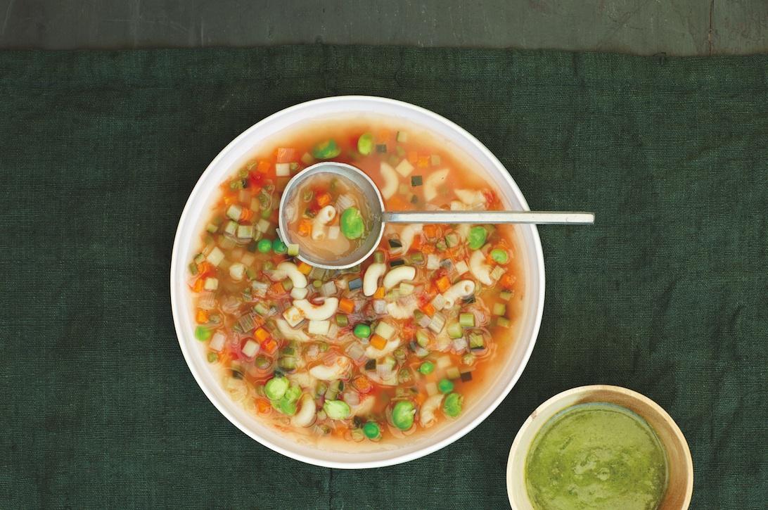 Sunday Recipe: Michel Roux's Minestrone Soup With Basil Pistou