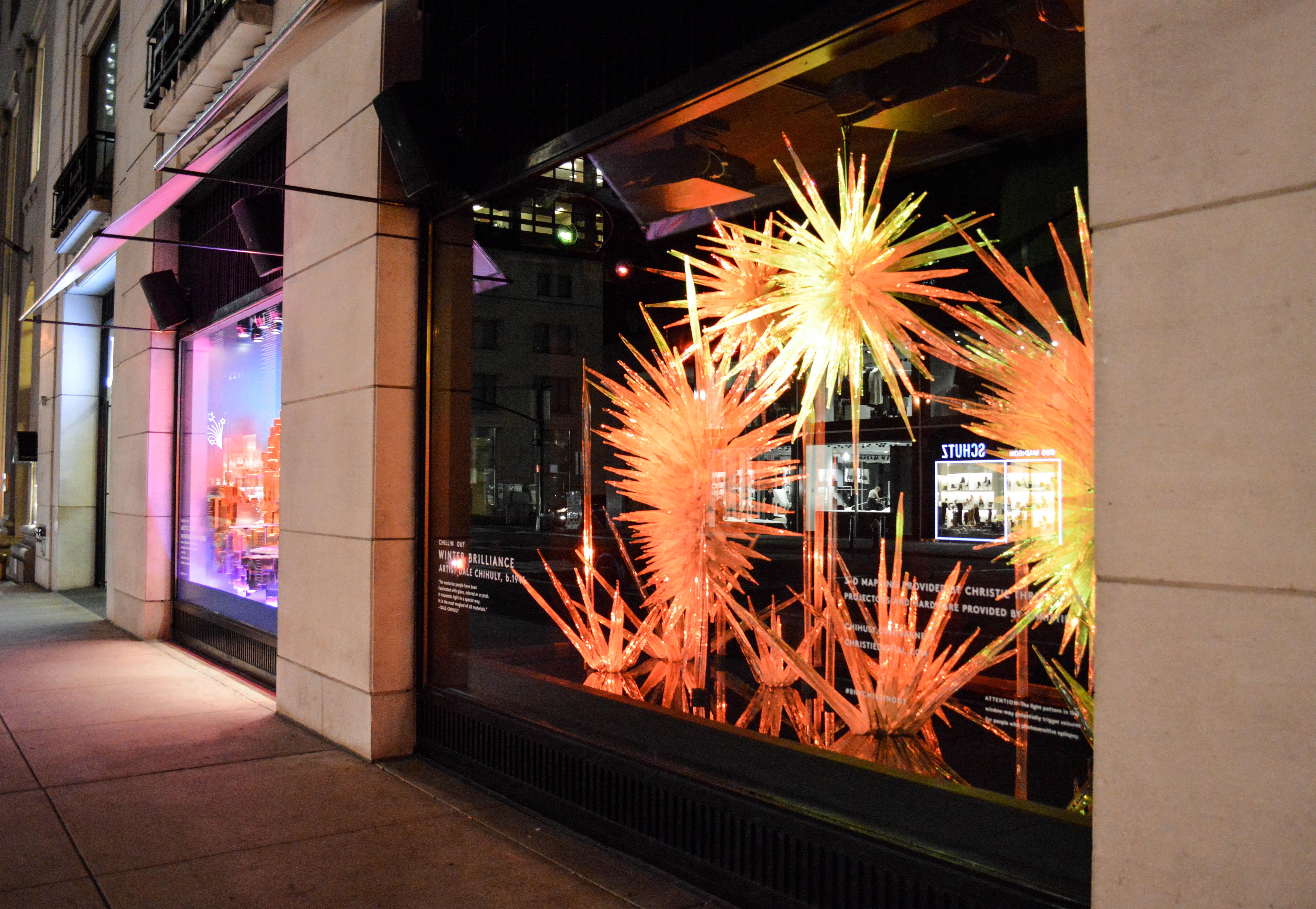 """A look at Barneys' <a href=""""http://ny.racked.com/2015/11/20/9769810/barneys-new-york-holiday-windows-madison-avenue-2015#4885053"""">holiday windows</a>"""