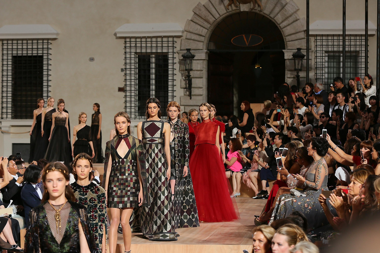 The Valentino Mirabilia Romae couture show in July.