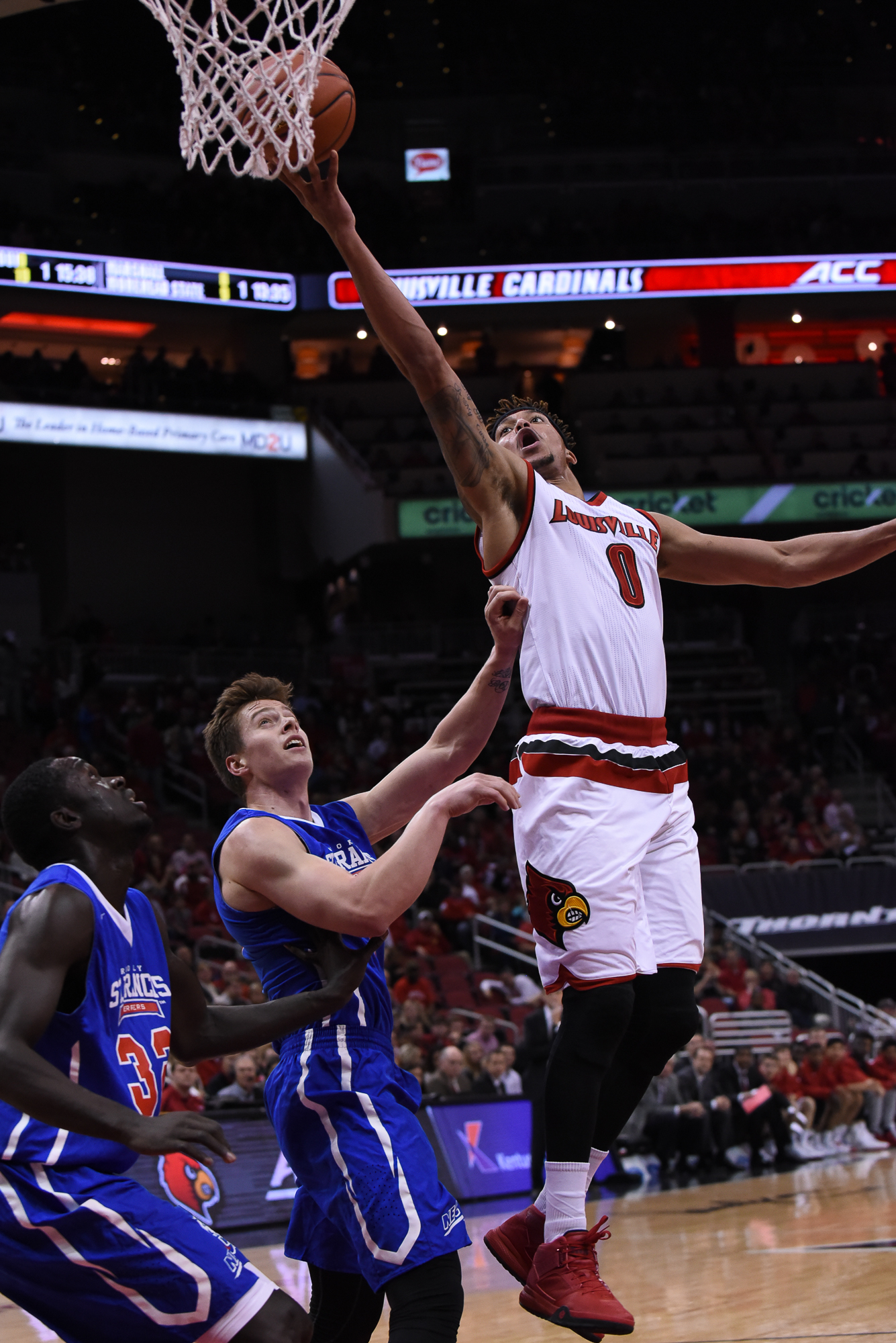 Damion Lee Drives against St. Francis