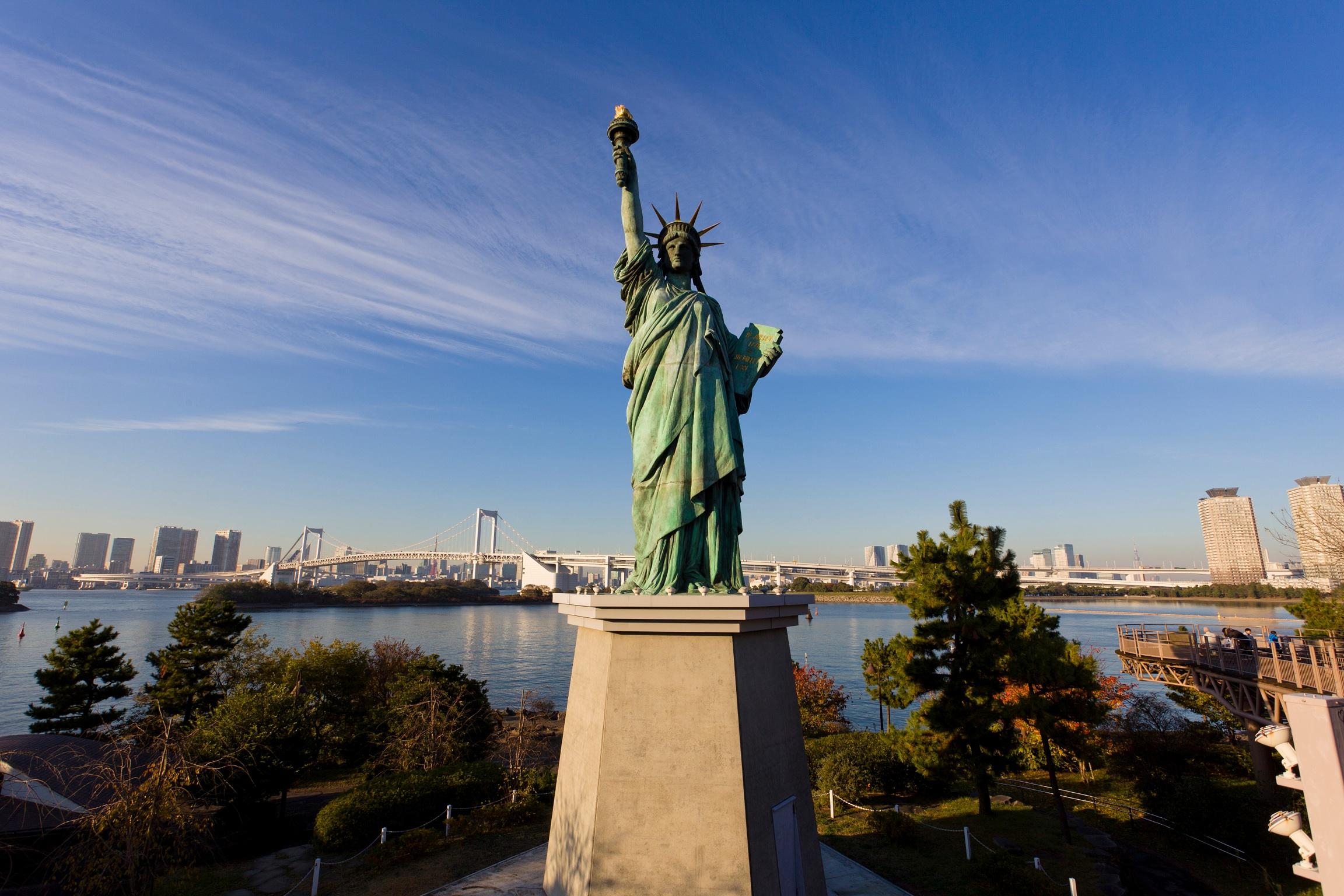 A Statue of Liberty replica in Odaiba, Tokyo