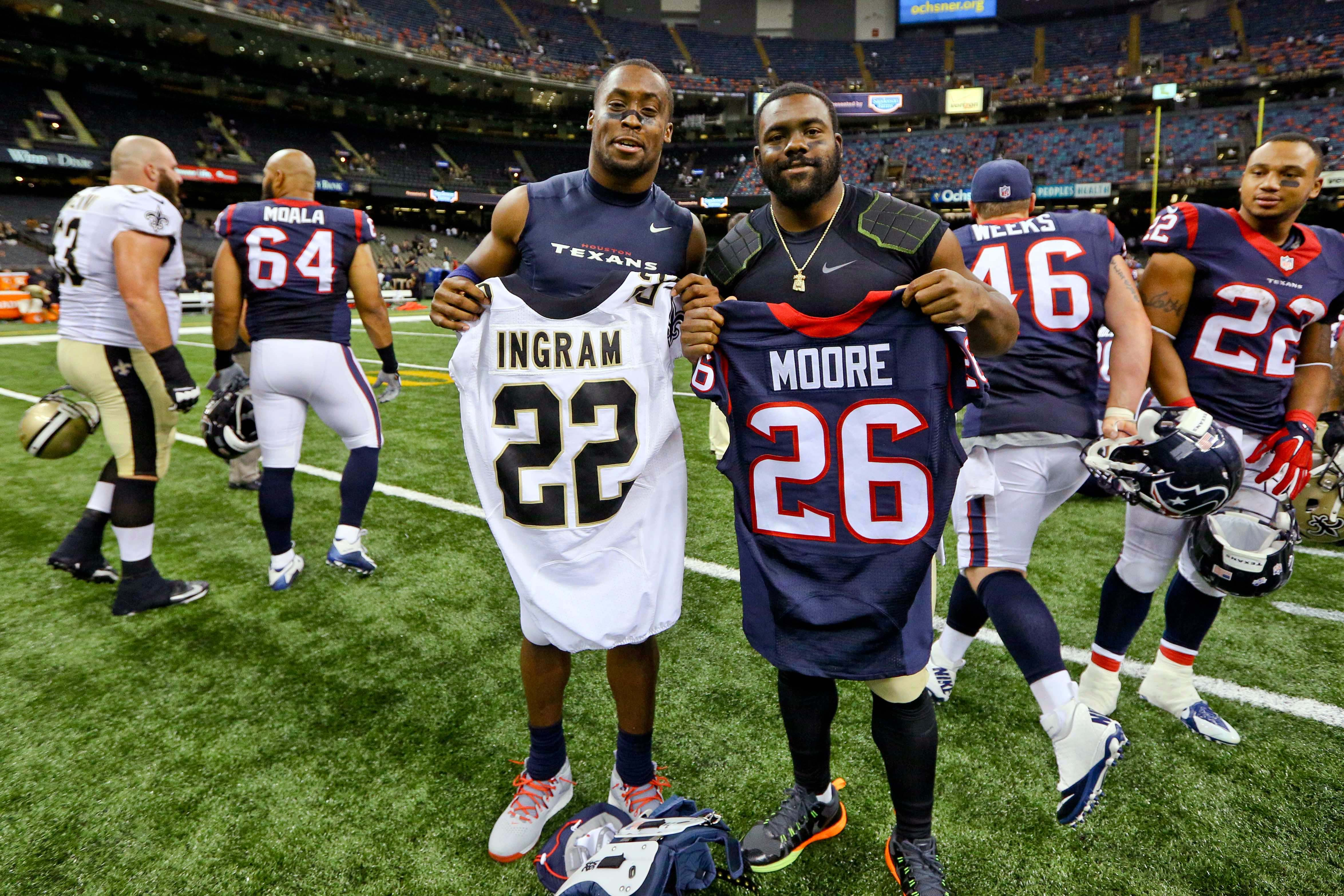 Odds are that Rahim Moore won't even have a jersey to exchange on Sunday.
