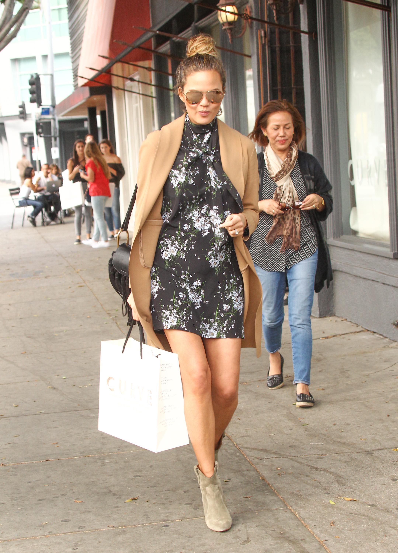 Where Chrissy Teigen Enjoys Pre-Black Friday Shopping in Beverly Hills