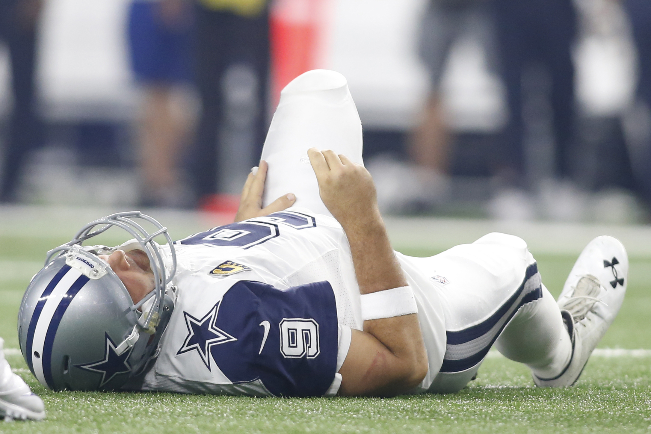 Tony Romo after being injured Thursday