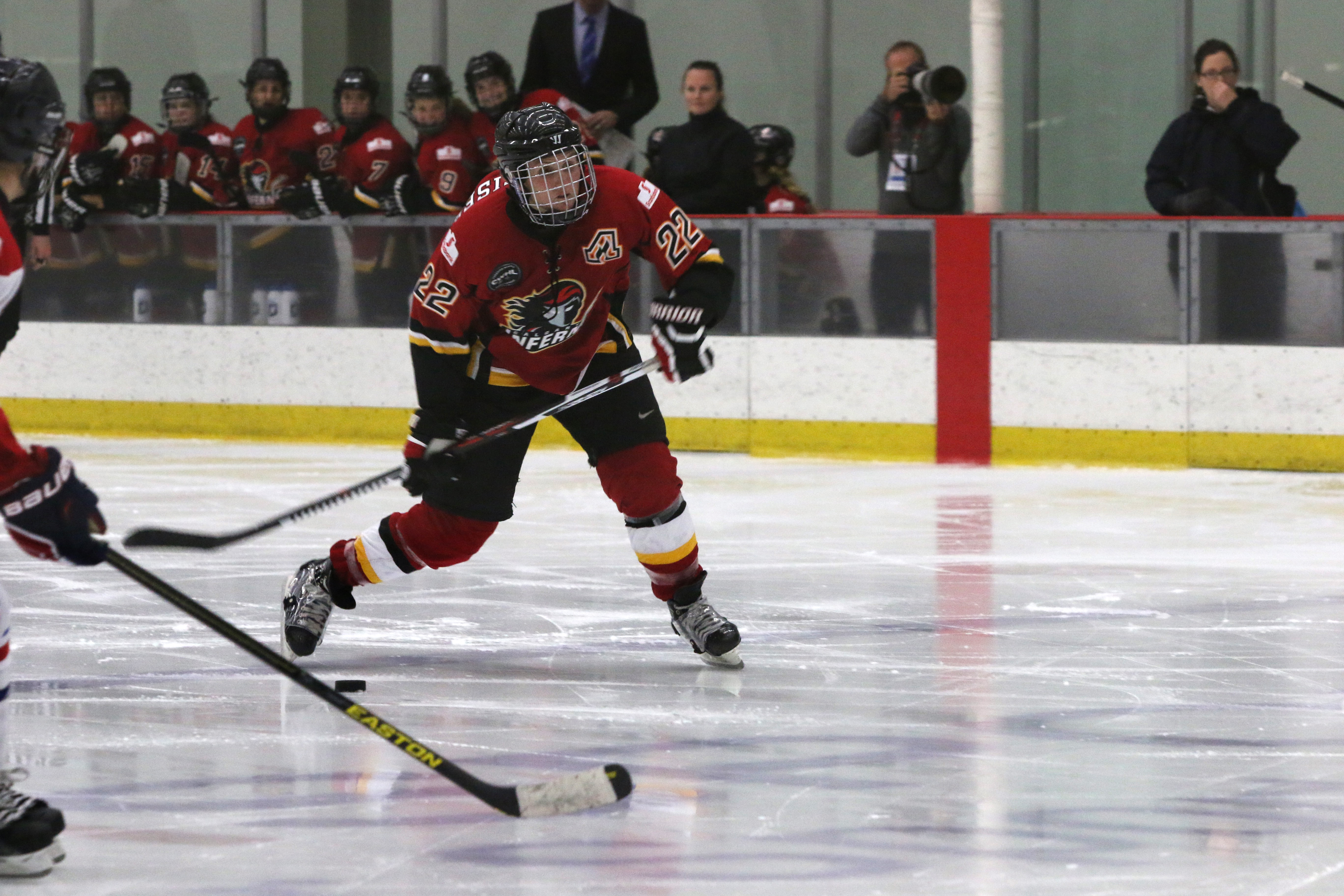 Hayley Wickenheiser and the Inferno are back at it Saturday and Sunday against the team nipping their heels for first place, the Brampton Thunder.