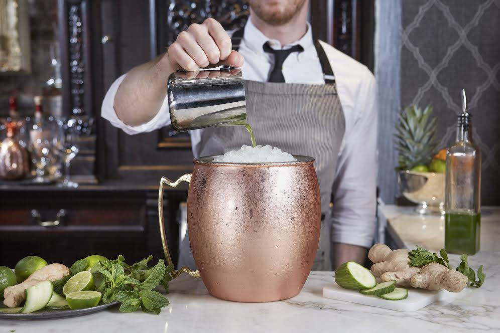 Boston restaurant Yvonne's large format Moscow Mule.
