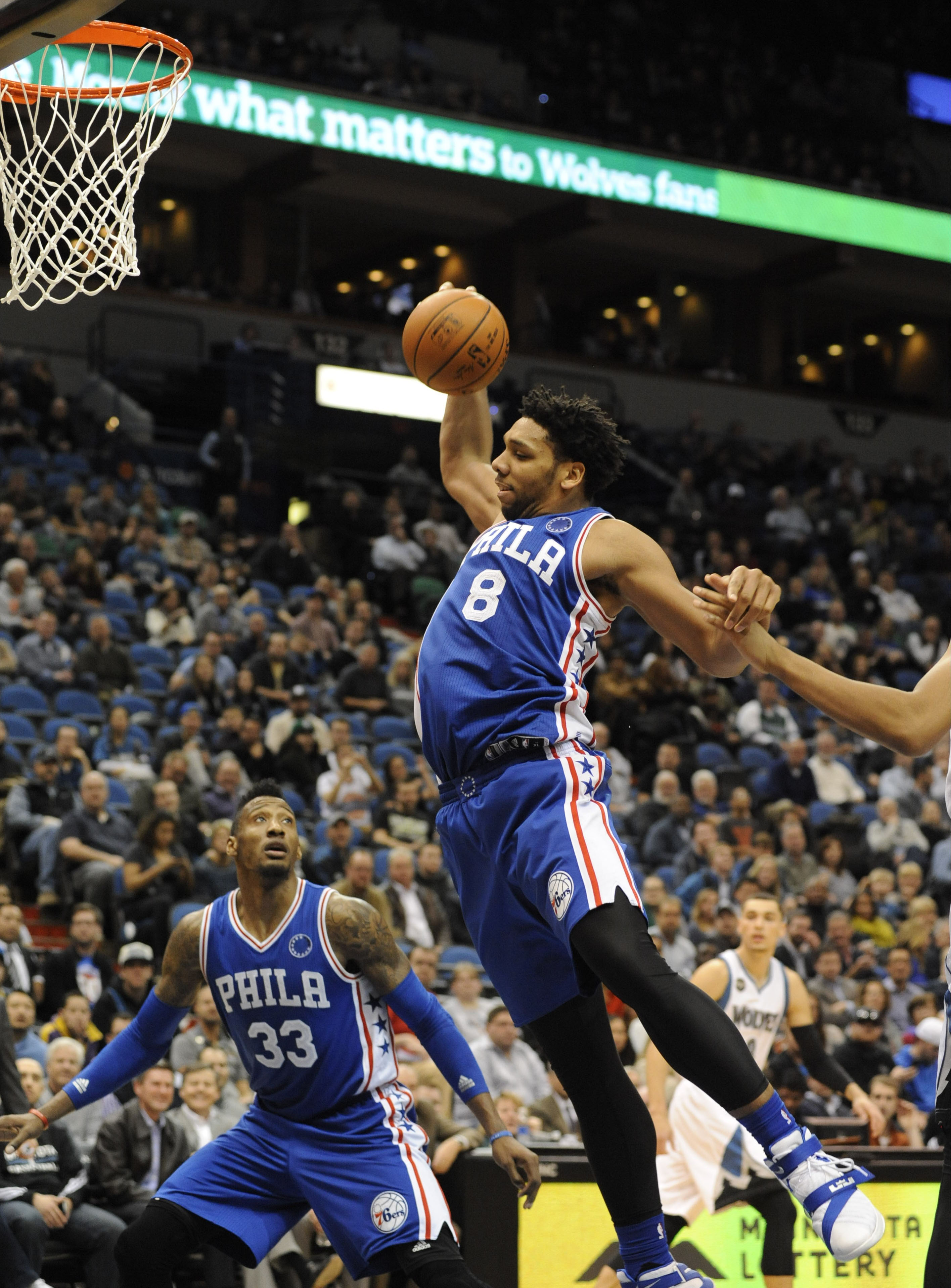 Jahlil Okafor is picturing a random bar dude's face right now...