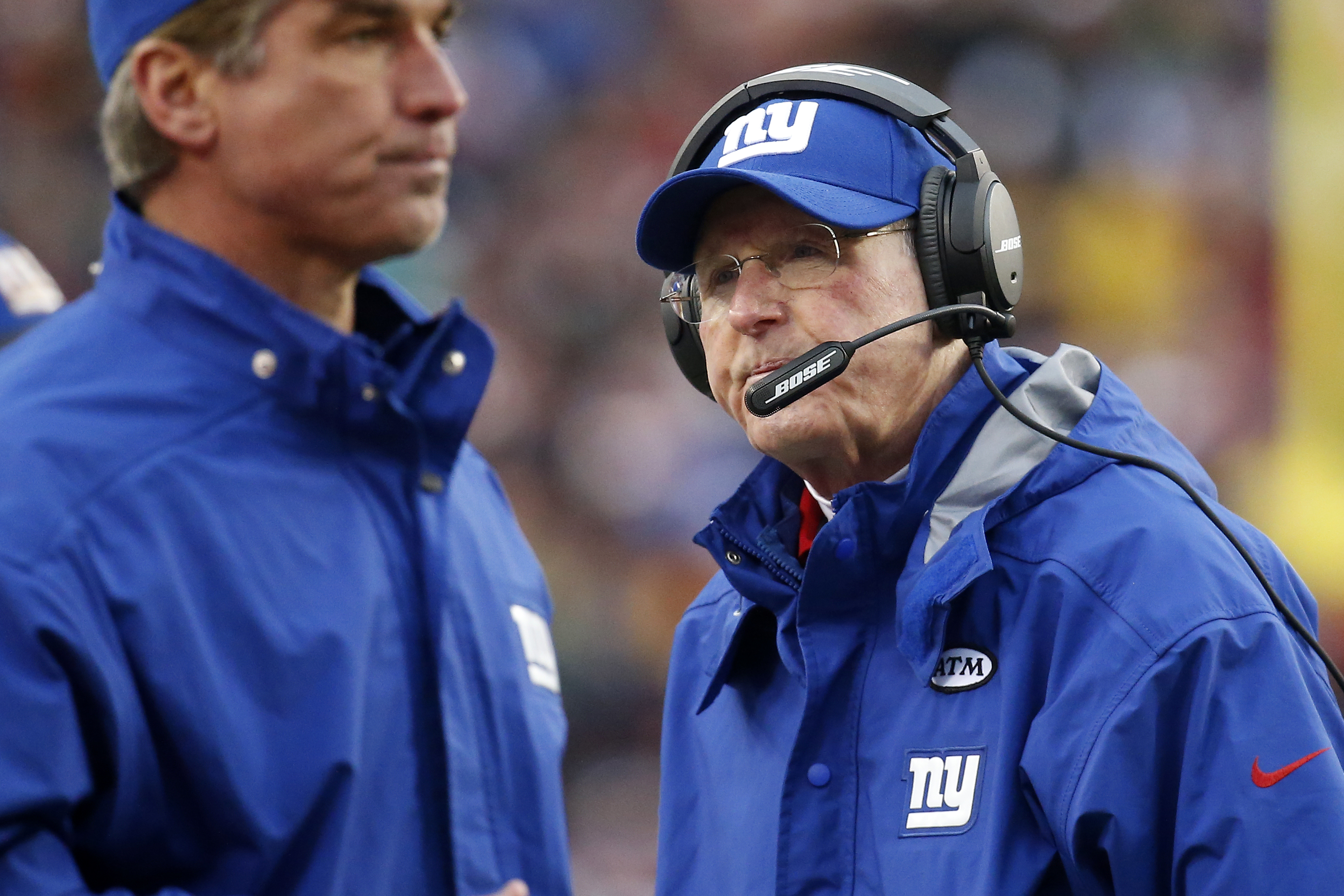 Tom Coughlin's frustration shows during Sunday's loss to the Redskins