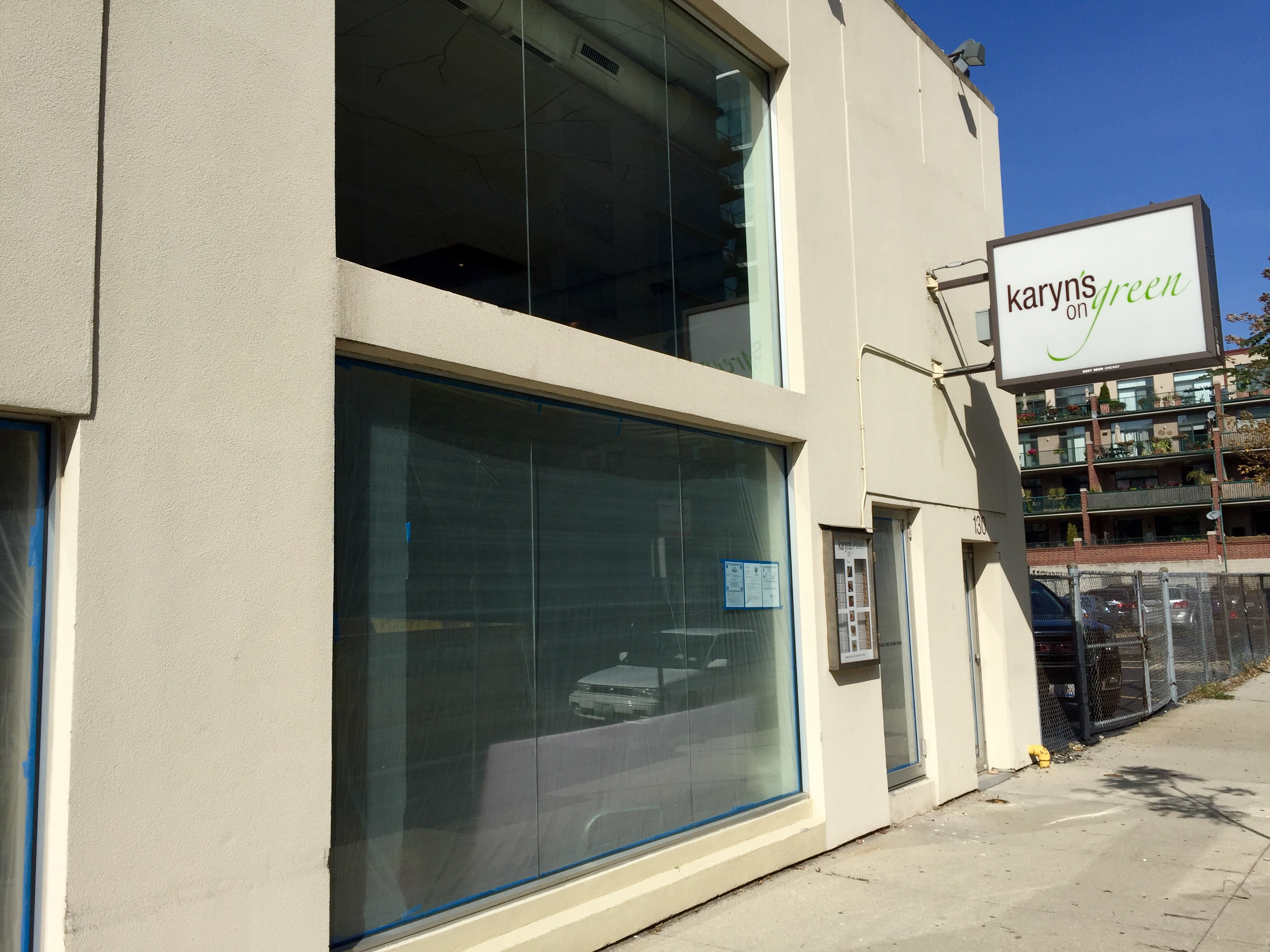 The former Karyn's on Green space