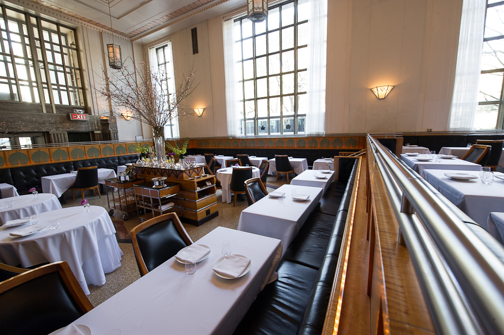 [The dining room at Eleven Madison Park]