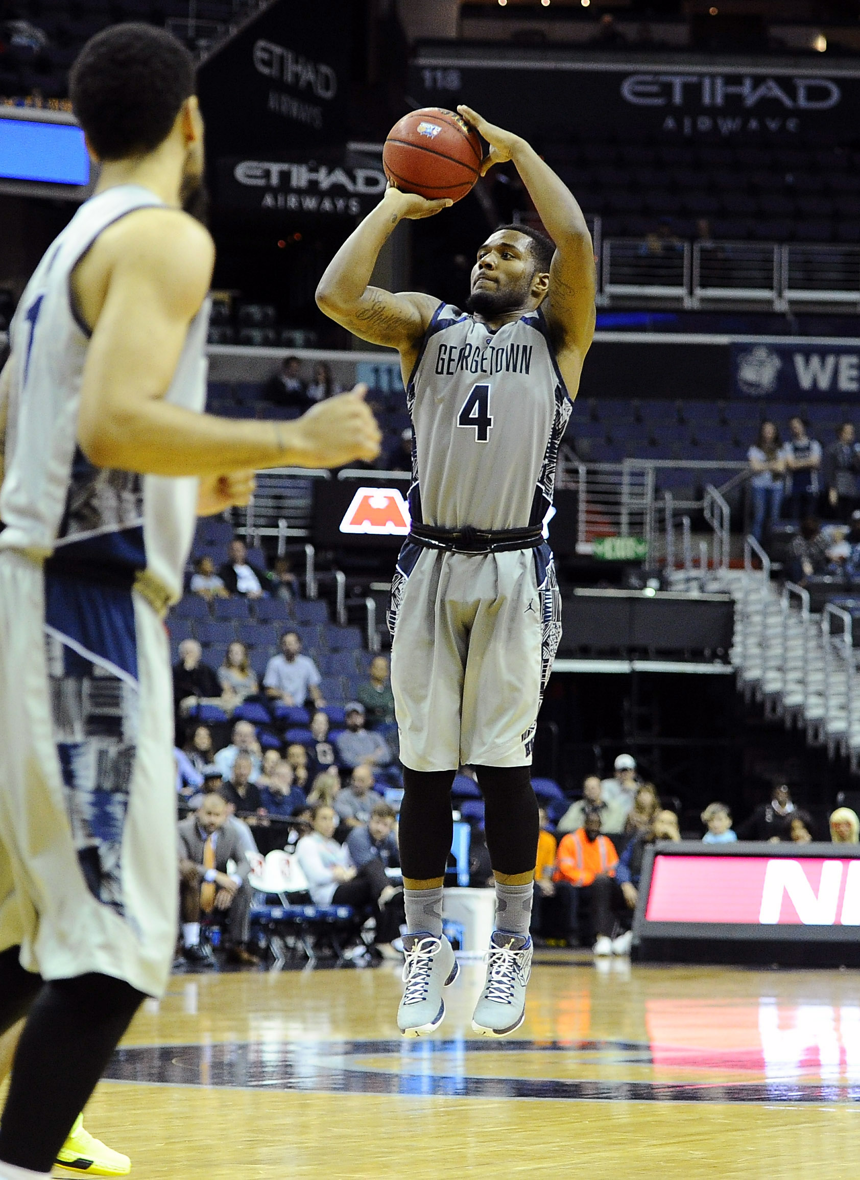 D'Vauntes Smith-Rivera is one of the many Hoyas who are playing well in the first half.