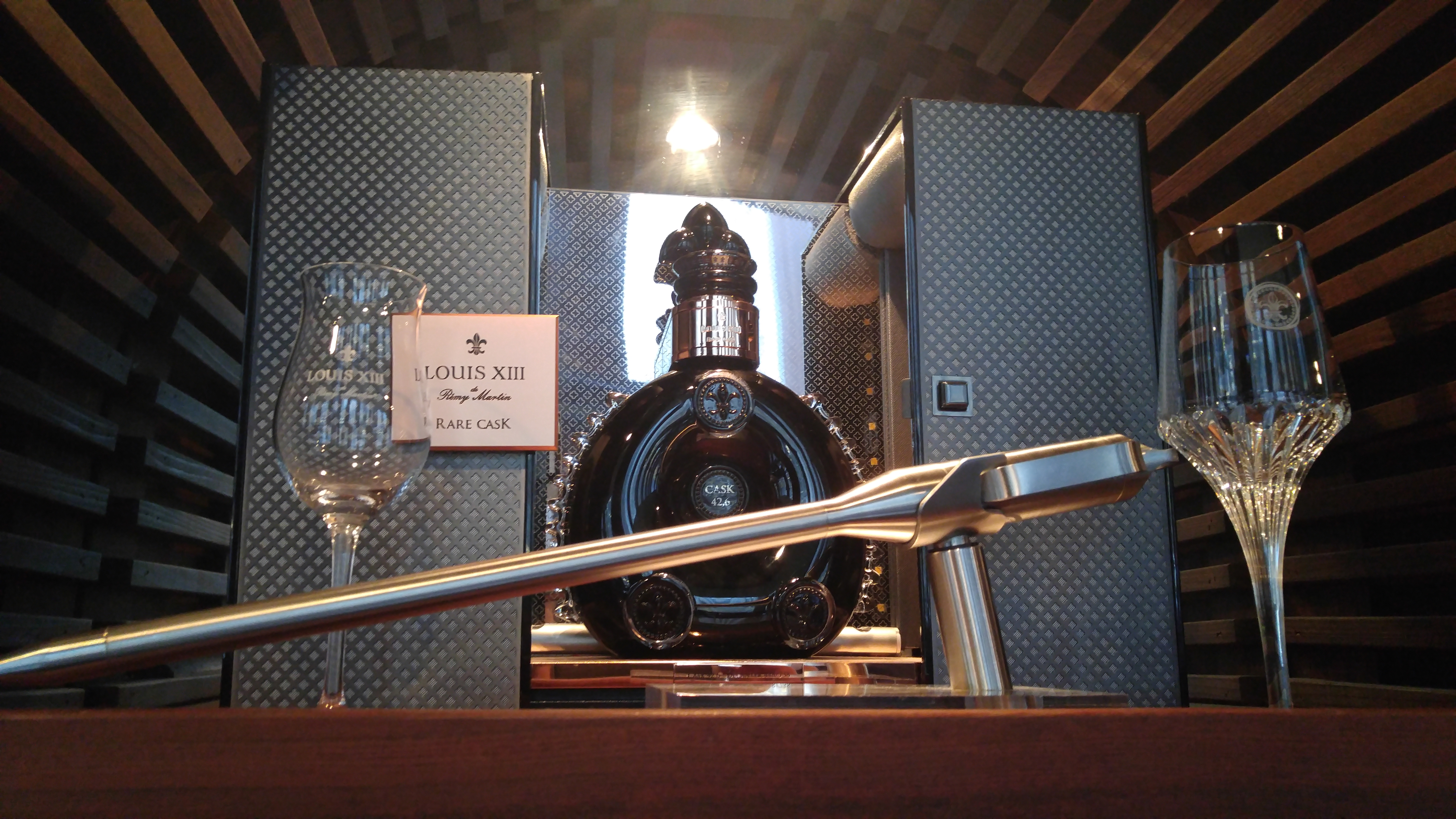 One of two bottles of Louis XIII Rare Cask in New York City, at Del Frico's Double Eagle Steakhouse