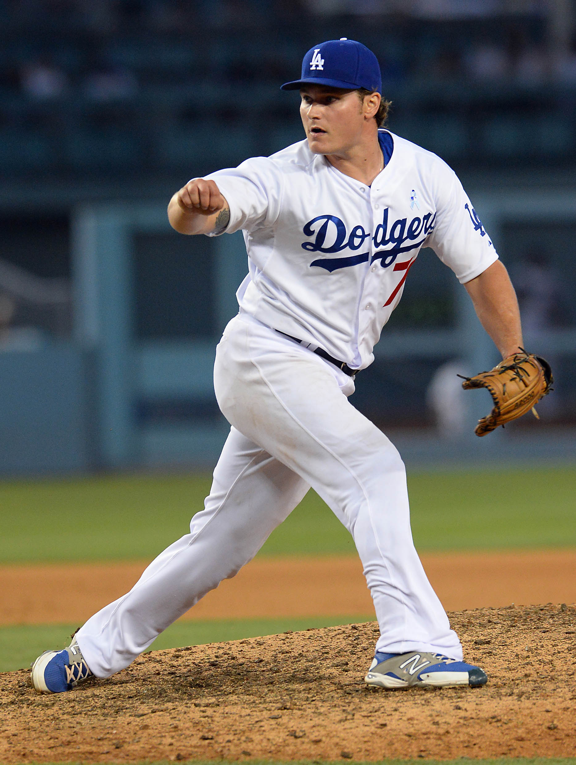 Matt West pitched in two games for the Dodgers in 2015.