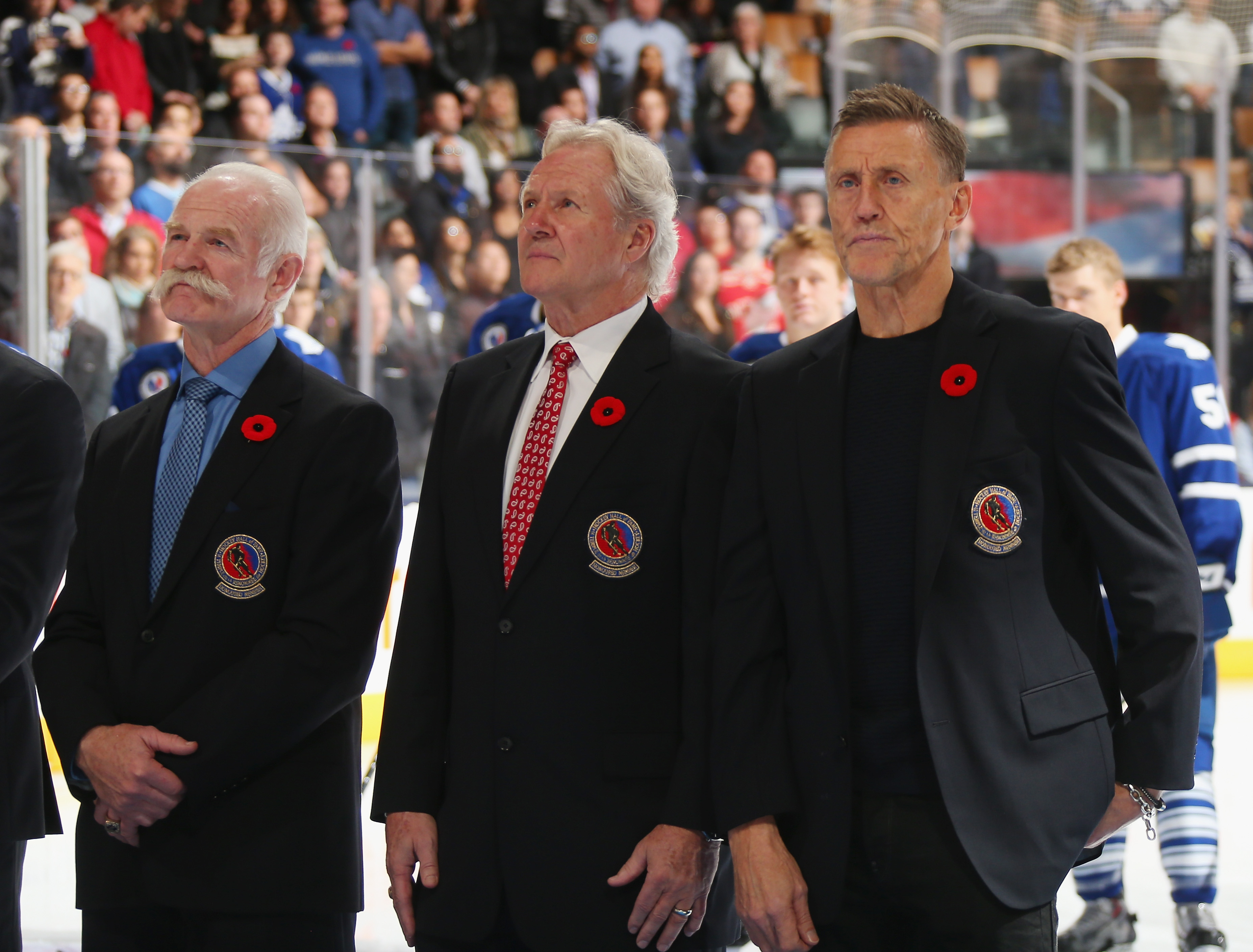 Sittler, with his 75/76 teammates Lanny MacDonald (L) and Borje Salming (R)