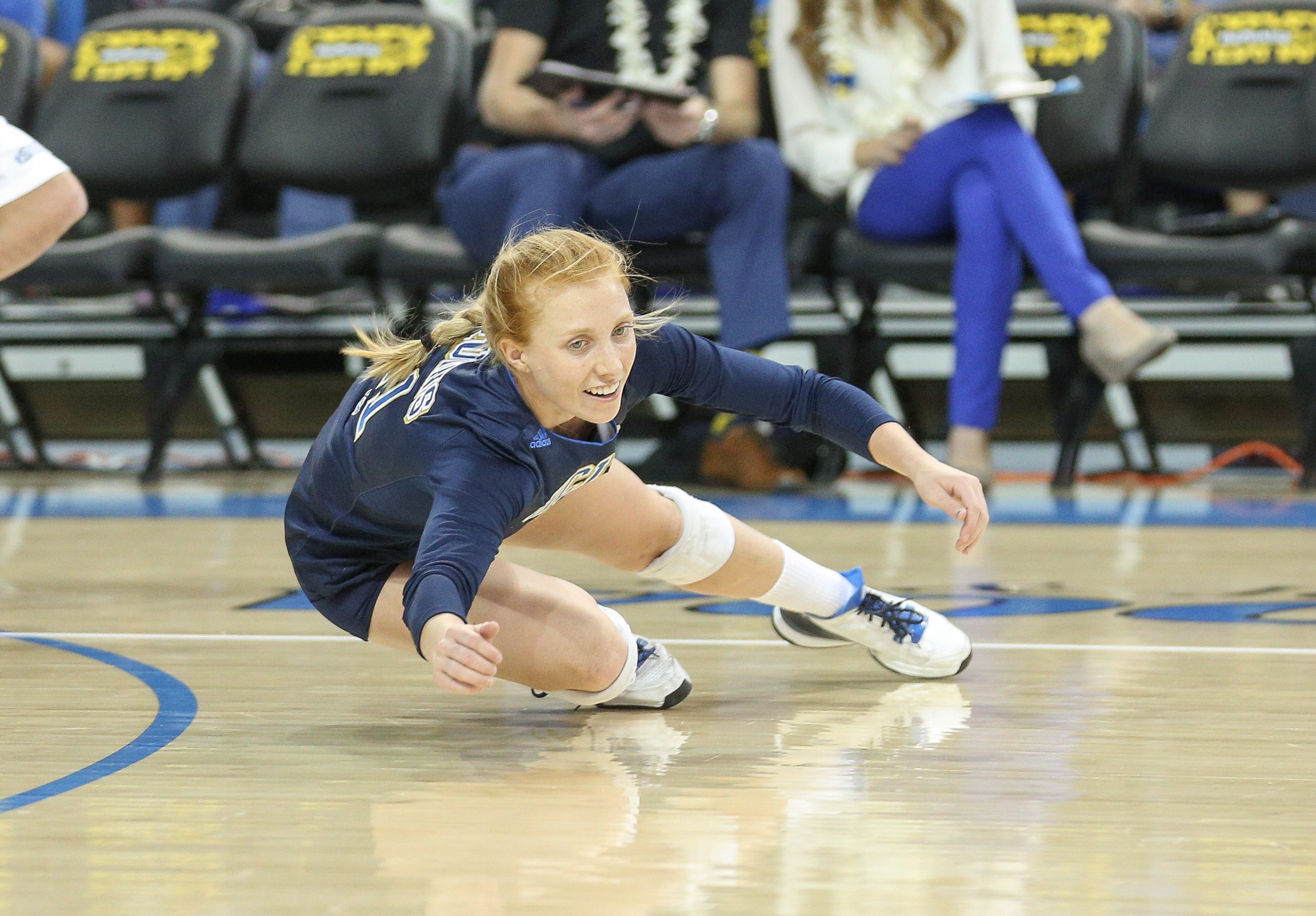Taylor Formico goes for a dig against Stanford