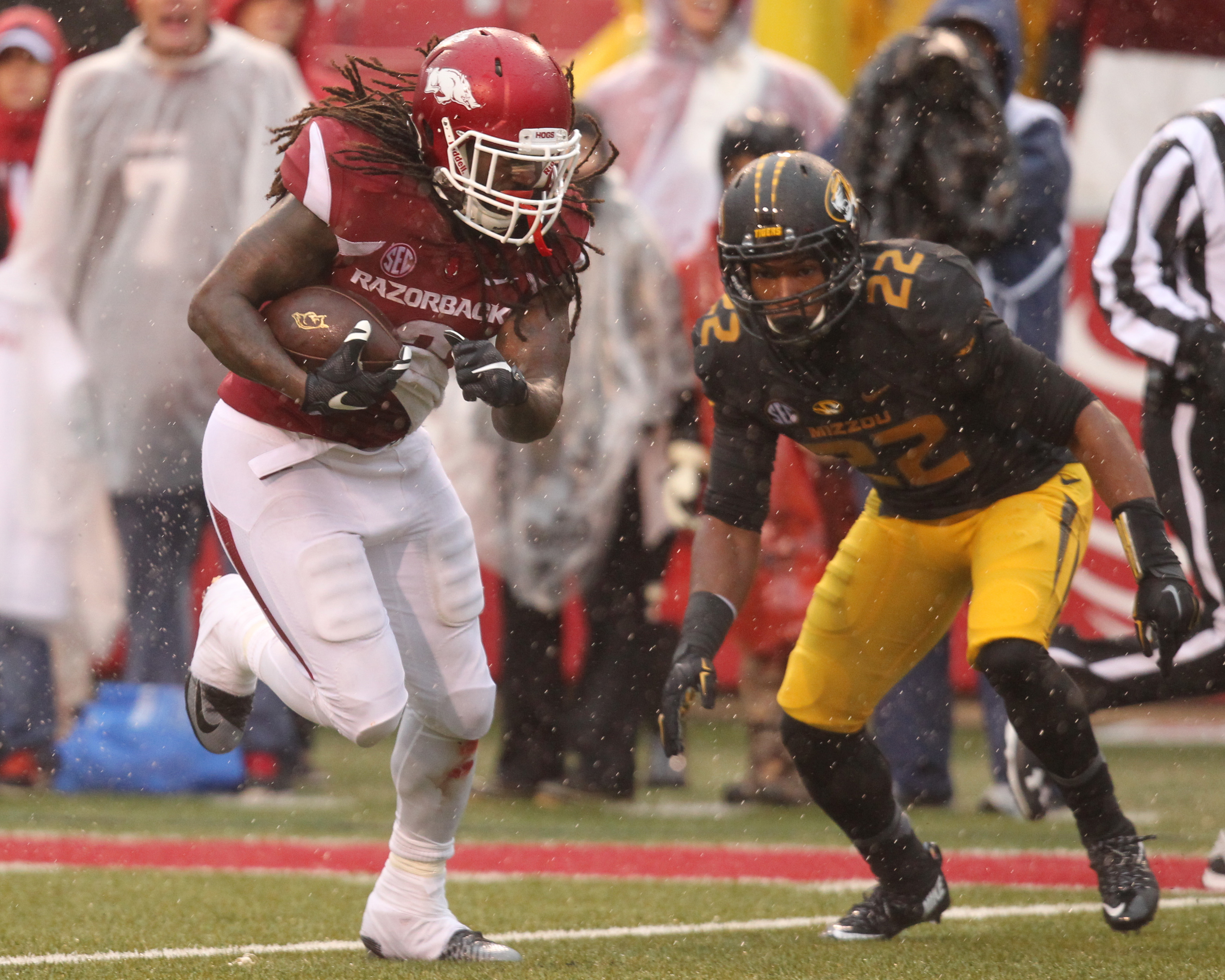 This is Alex Collins, the SEC's third-best running back behind two Heisman candidates.