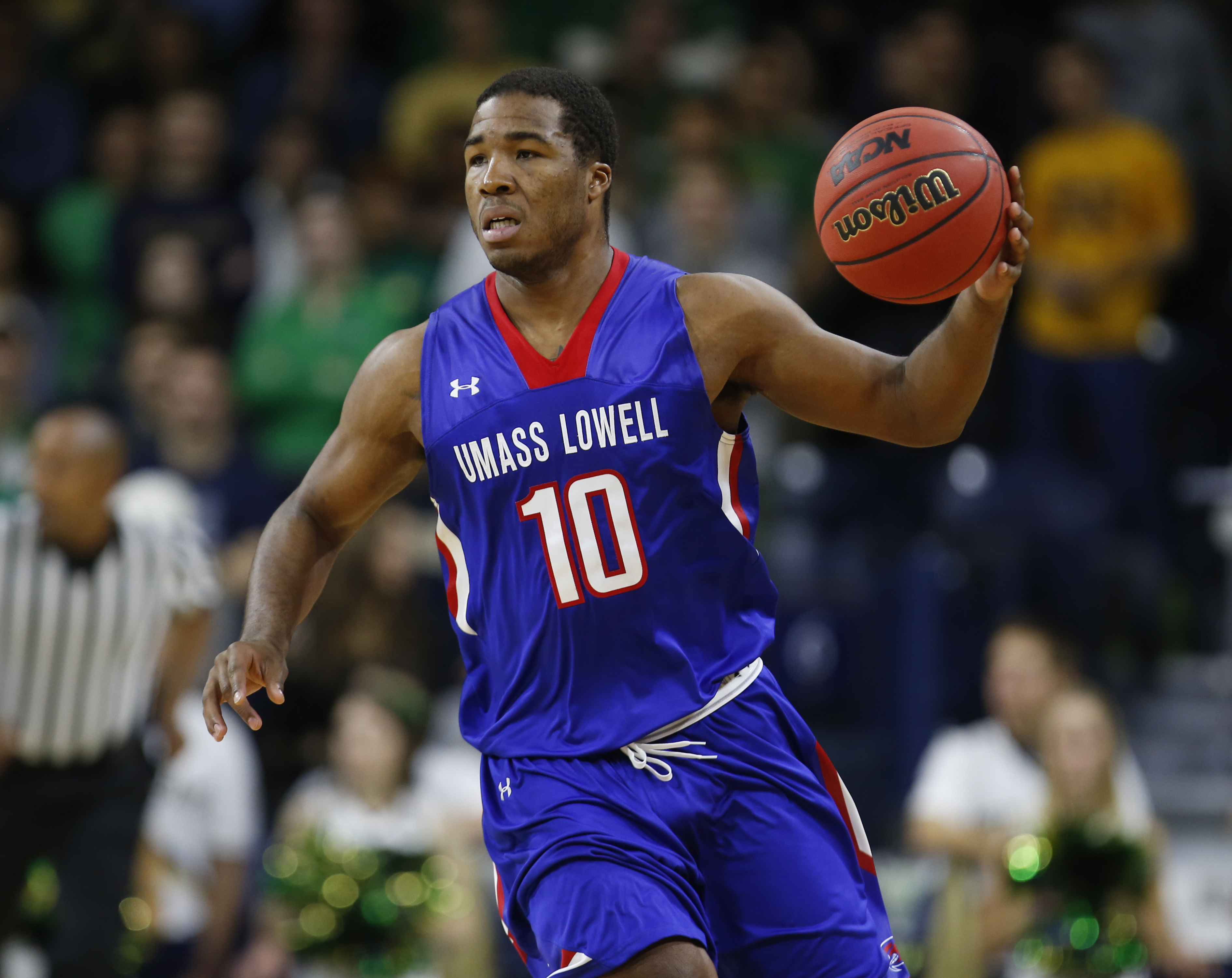 Jahad Thomas did it all for UMass Lowell in their 68-66 victory over Boston College.