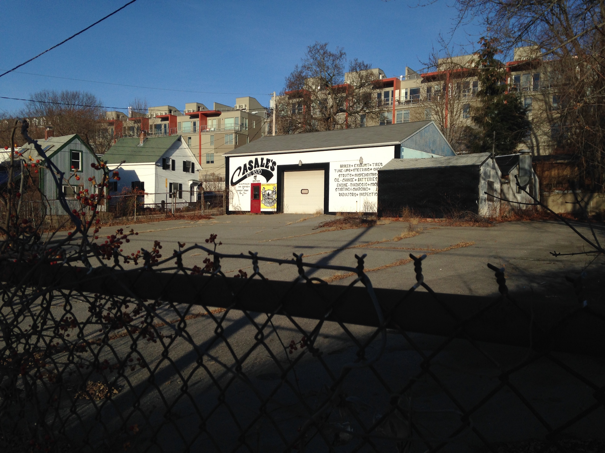 Casale's Auto Sales in Portland, possible site of a new restaurant from the owners of Palace Diner.