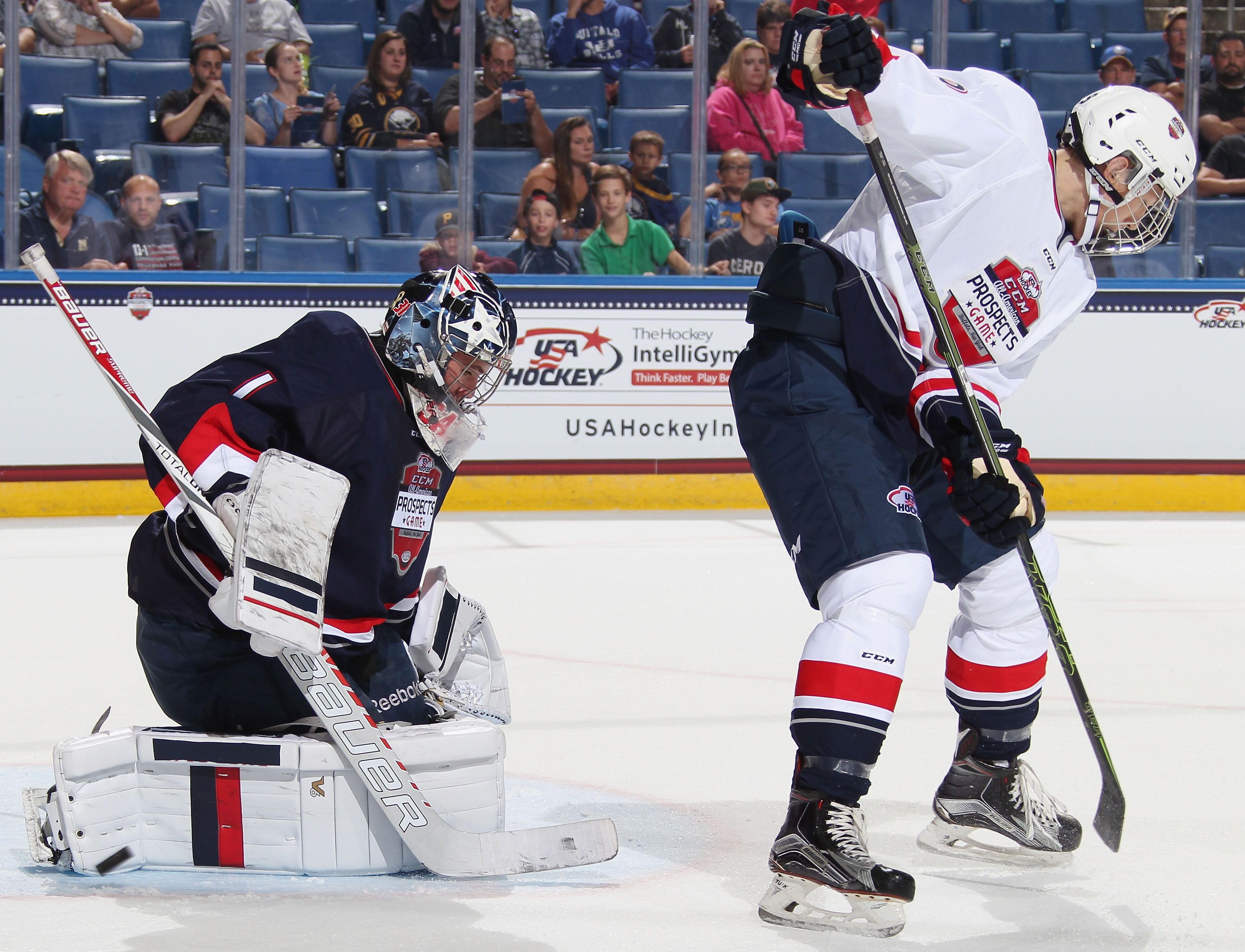 Tri-City Americans goalie Evan Sarthou proved last week why he was chosen to play in September's USA Hockey All-American Prospects Game.