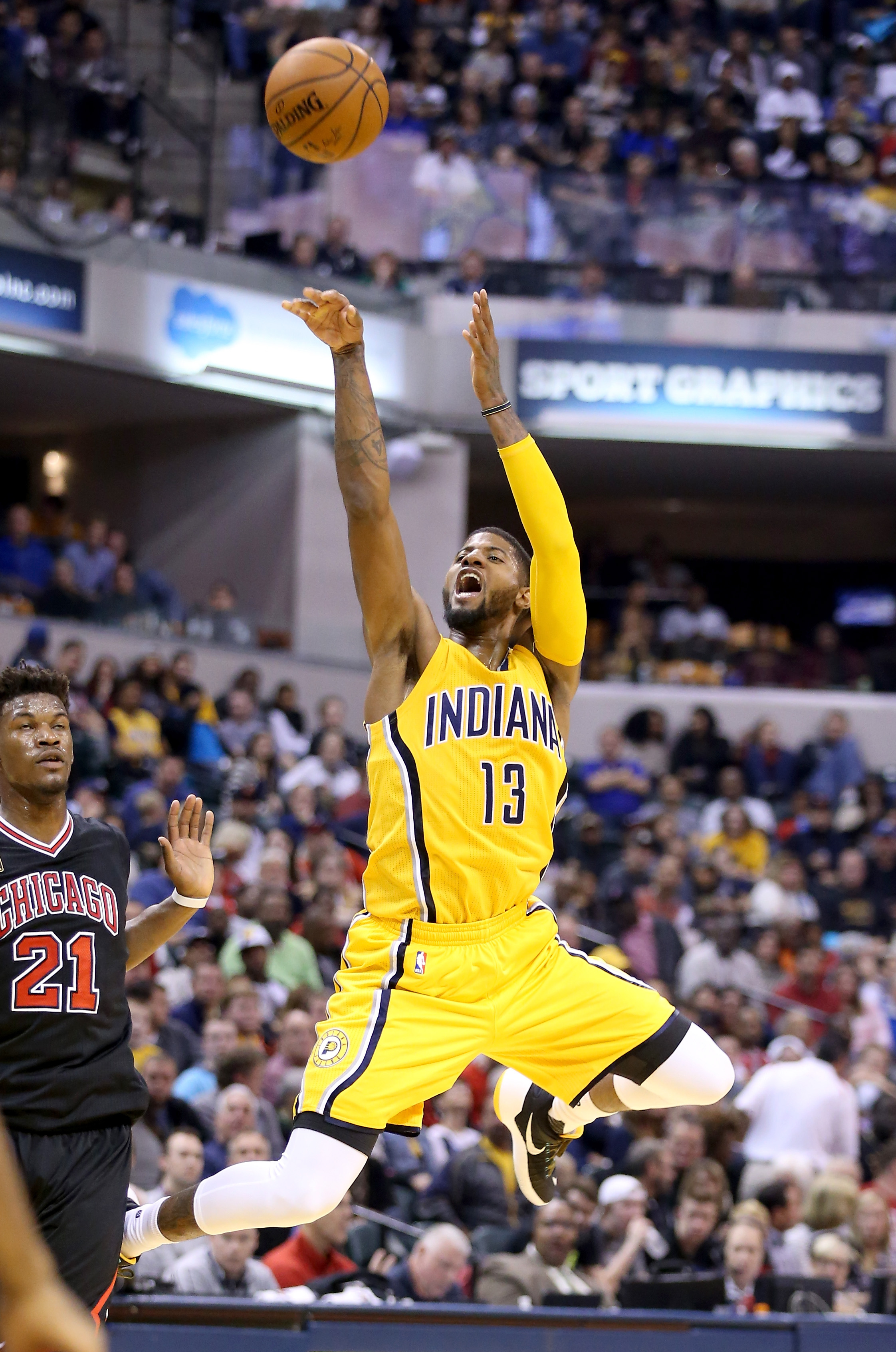 Paul George has been almost as unstoppable as Stephen Curry this season