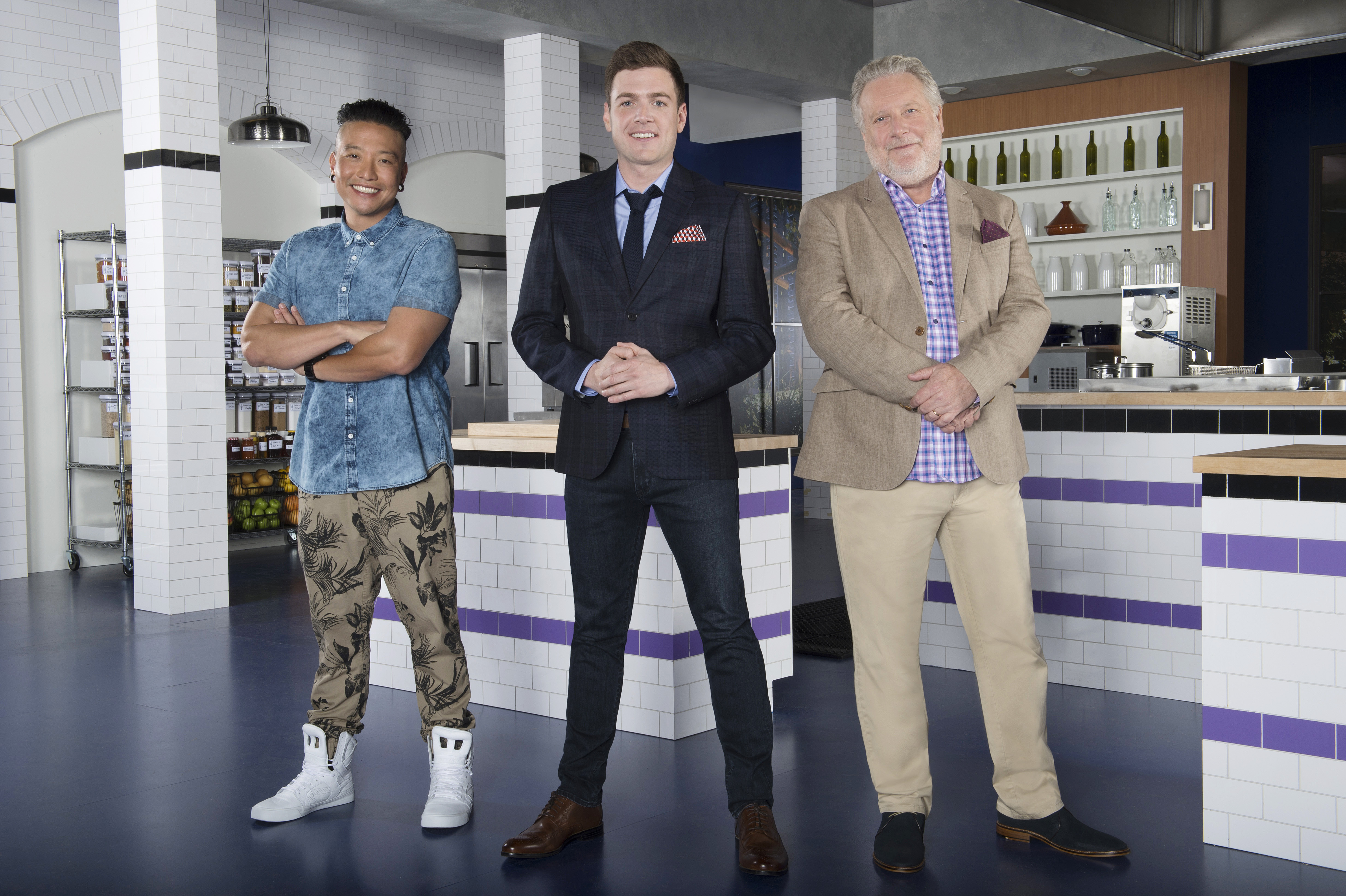 Chris Oh, Max Silvestri, Jonathan Waxman for Bravo's upcoming show, Recipe for Deception
