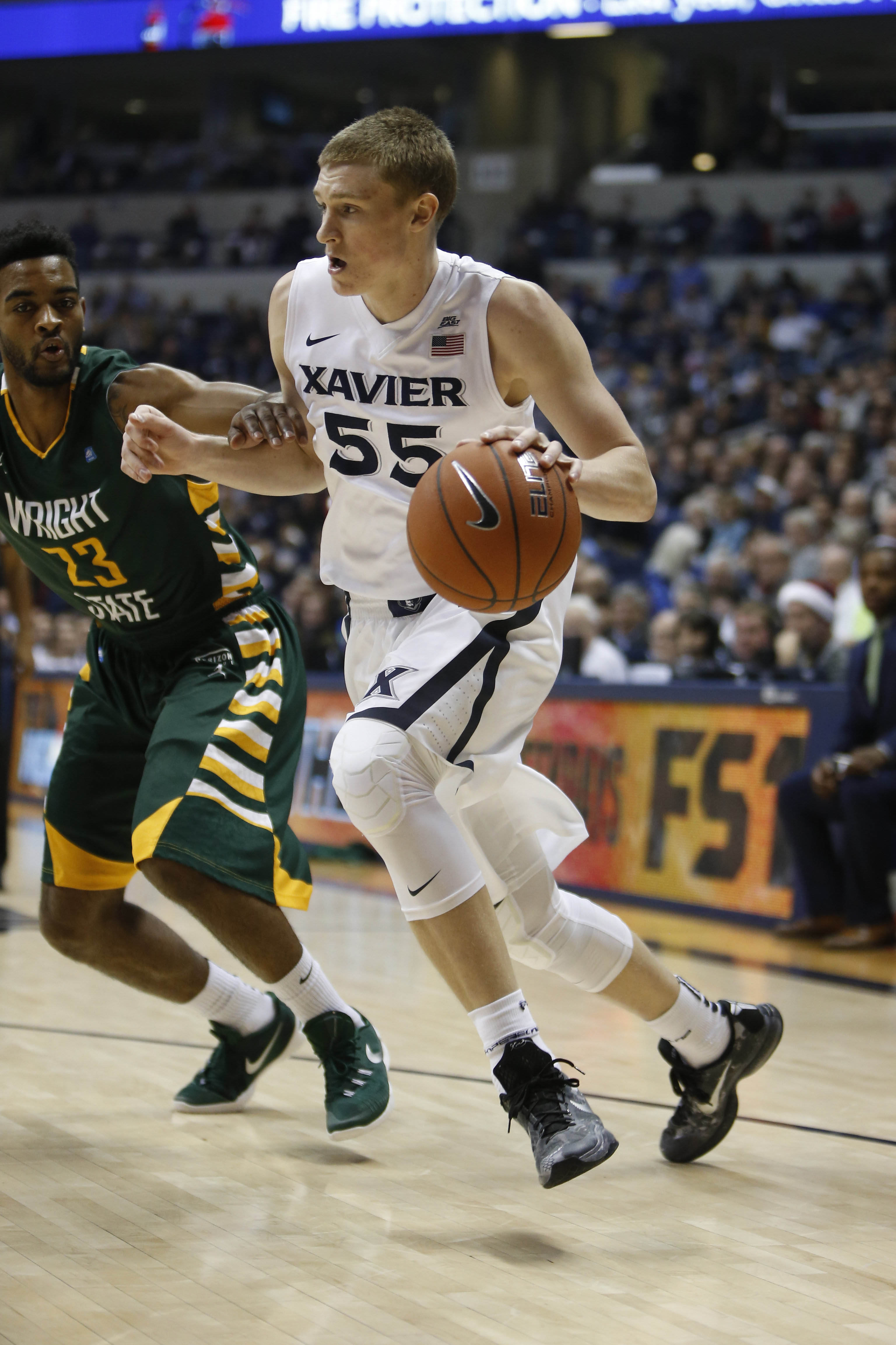 J.P Macura and Xavier cruised to an easy victory over Wright State