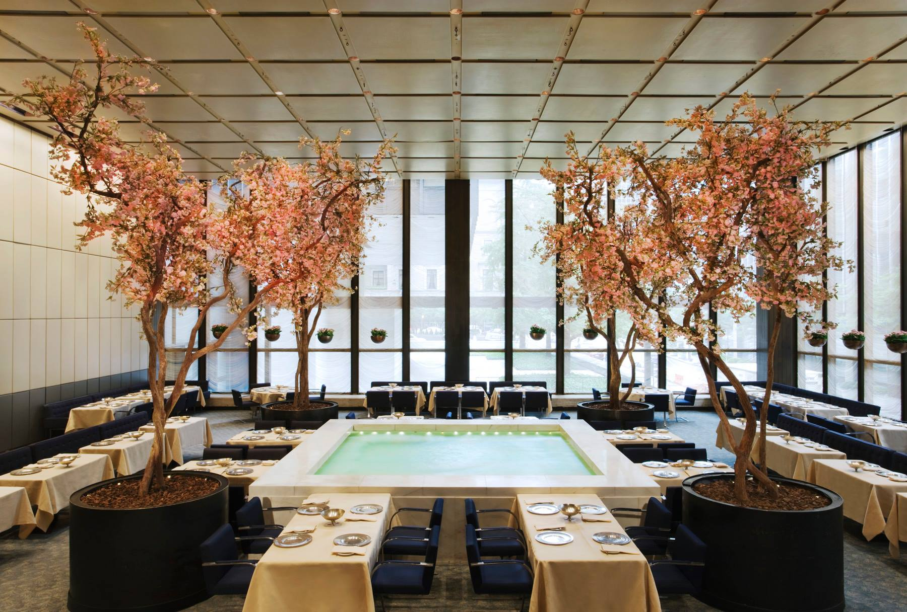 The famous pool in the Four Seasons restaurant