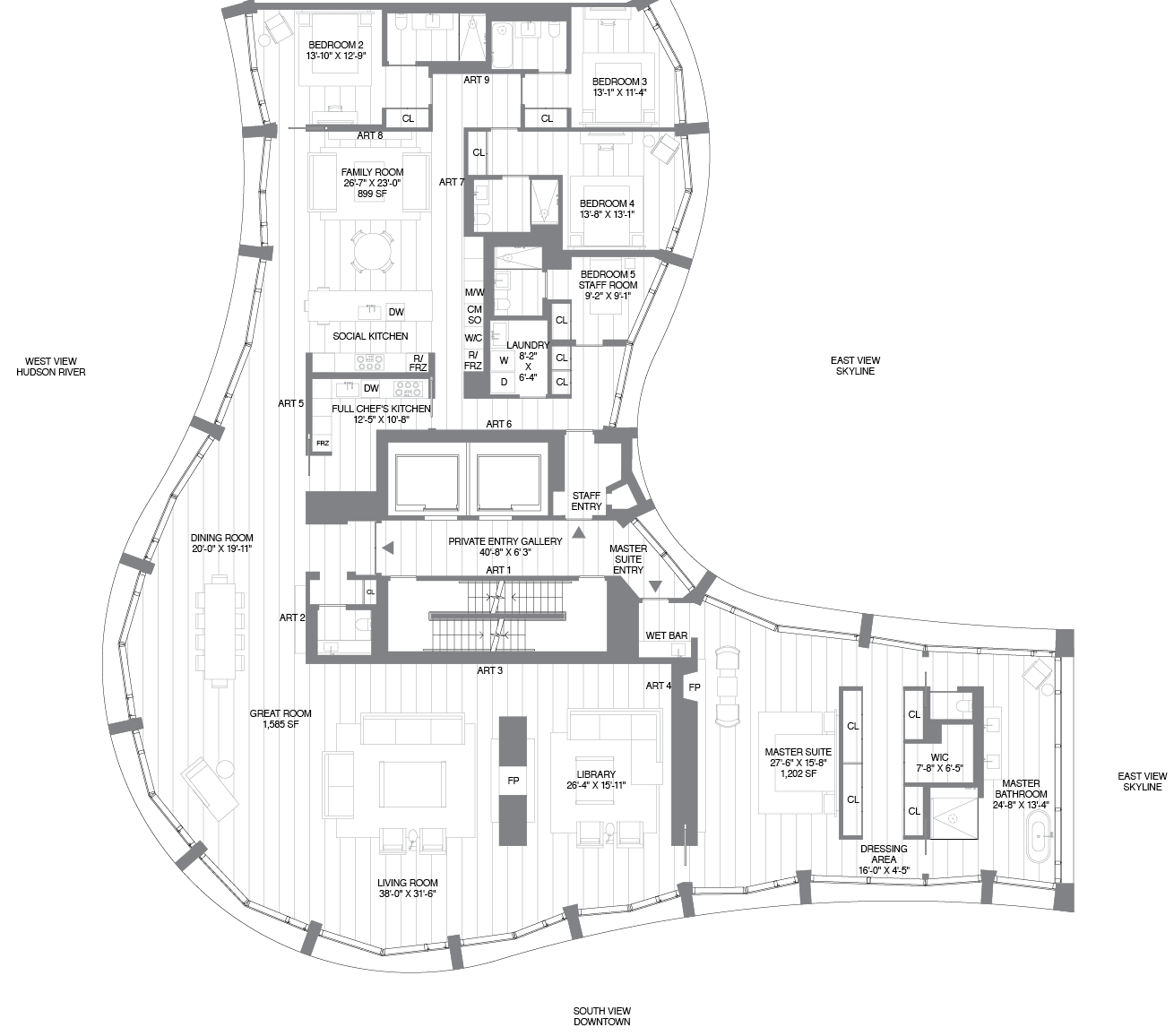 Herzog De Meuron S 160 Leroy Reveals Quirky Floorplans