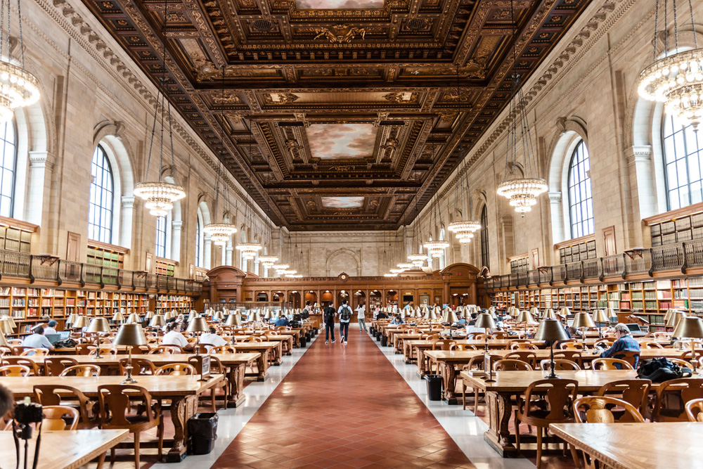 Inside the New York Public Library's Stephen A. Schwarzman building. Photo by Jiahui Huang.