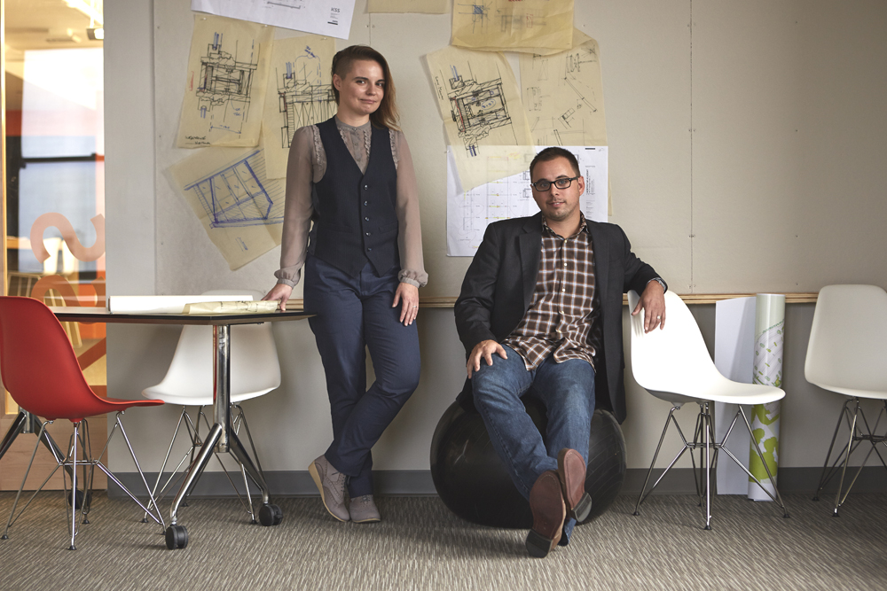 """Sara Nordstrom and Jason Chmura of KSS. Photo by <a href=""""http://www.persicophoto.com/"""">Michael Persico</a>."""