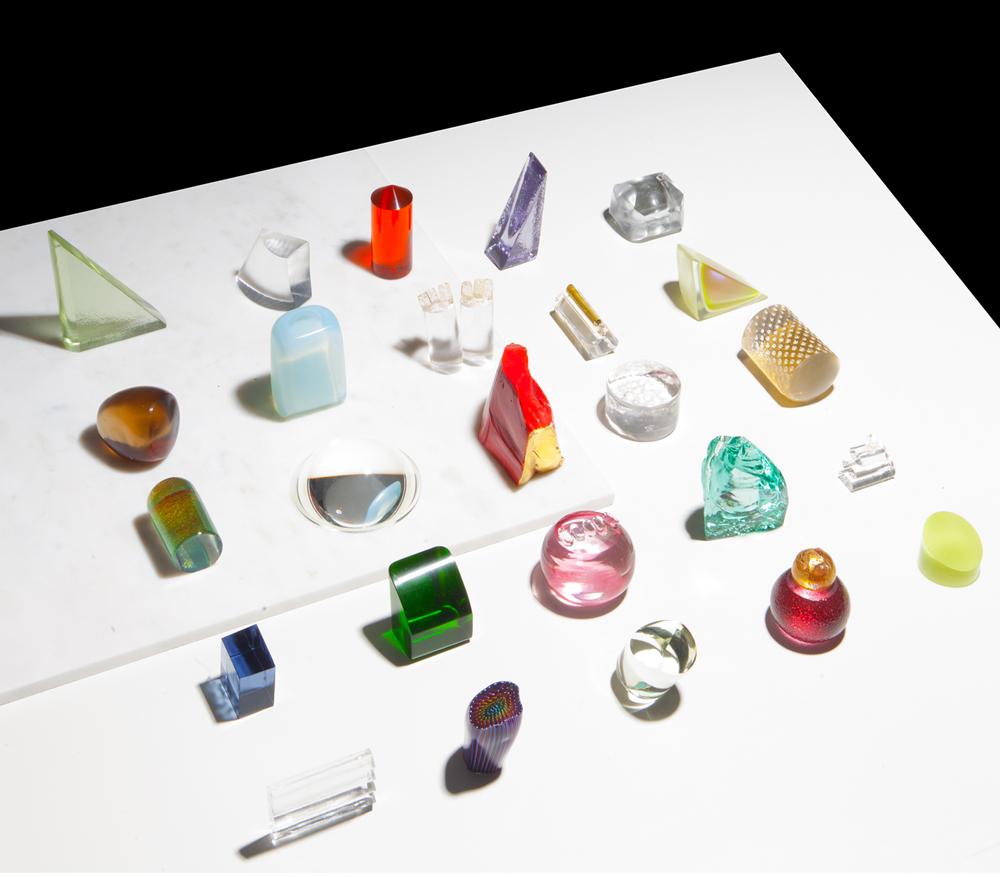 """Glass pieces by John Hogan. Photo by <a href=""""http://charlieschuck.com/"""">Charlie Schuck</a>."""