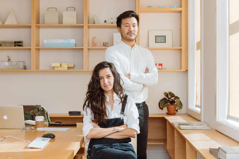 """Oana Stanescu and Dong-Ping Wong in their studio. Photo by <a href=""""http://www.markwickens.com/"""">Mark Wickens</a>."""