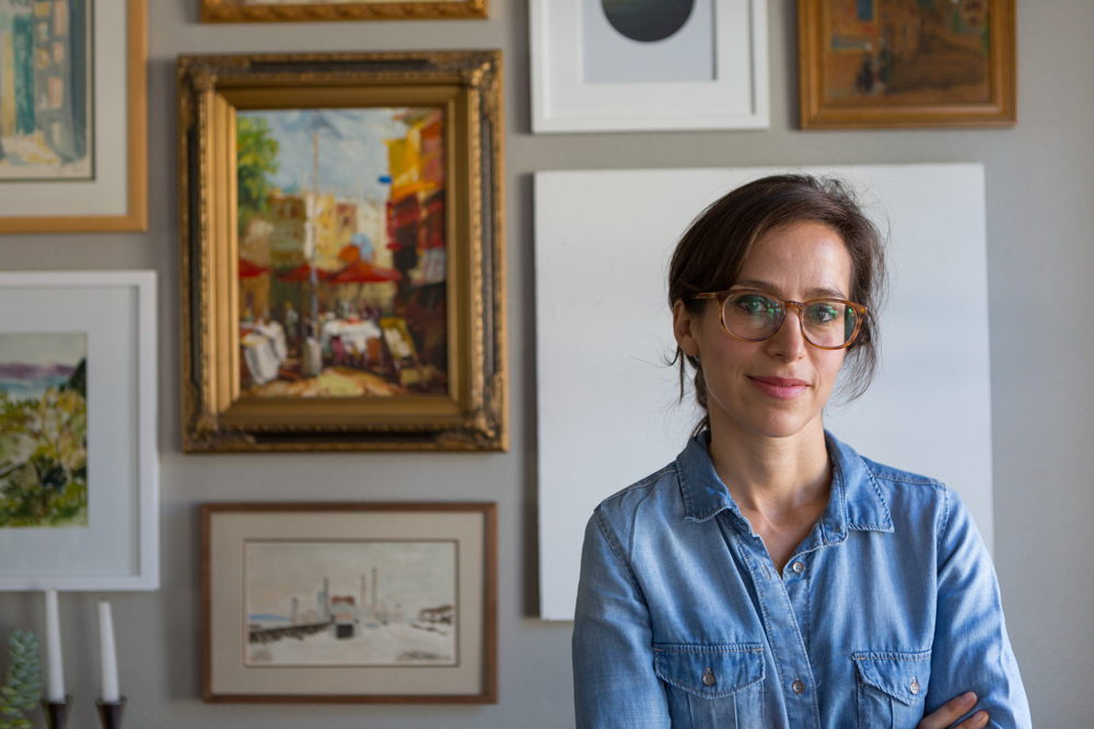 """Natalie Myers in her home office. Photo by <a href=""""http://austinnelson.com/"""">Austin Nelson</a>."""