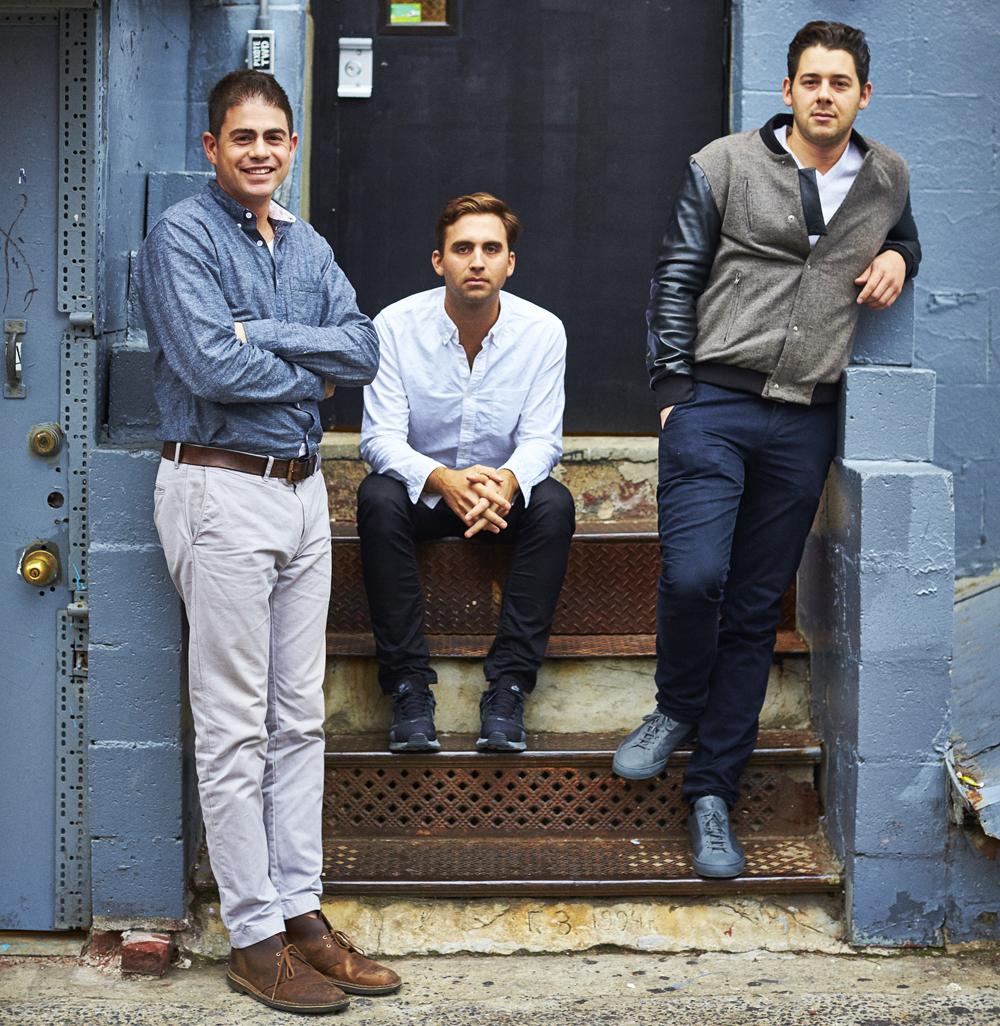 "Jonathan Minkoff, Will Cooper, and Ari Heckman of ASH NYC. Photo by <a href=""http://www.paulbarbera.com/"">Paul Barbera</a>."