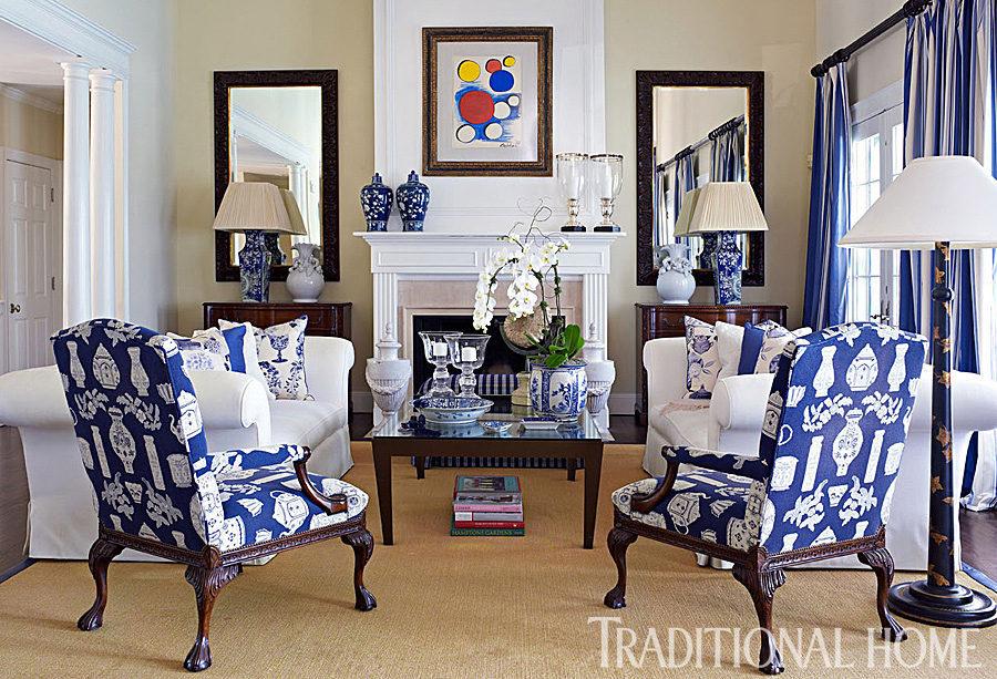 Designer Dennis Bassou0027s Blue Hamptons Haven