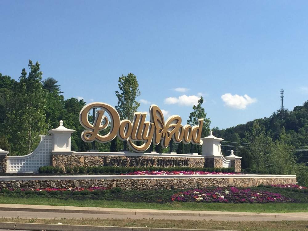 The entrance to Dollywood. Photo by Susan Harlan.