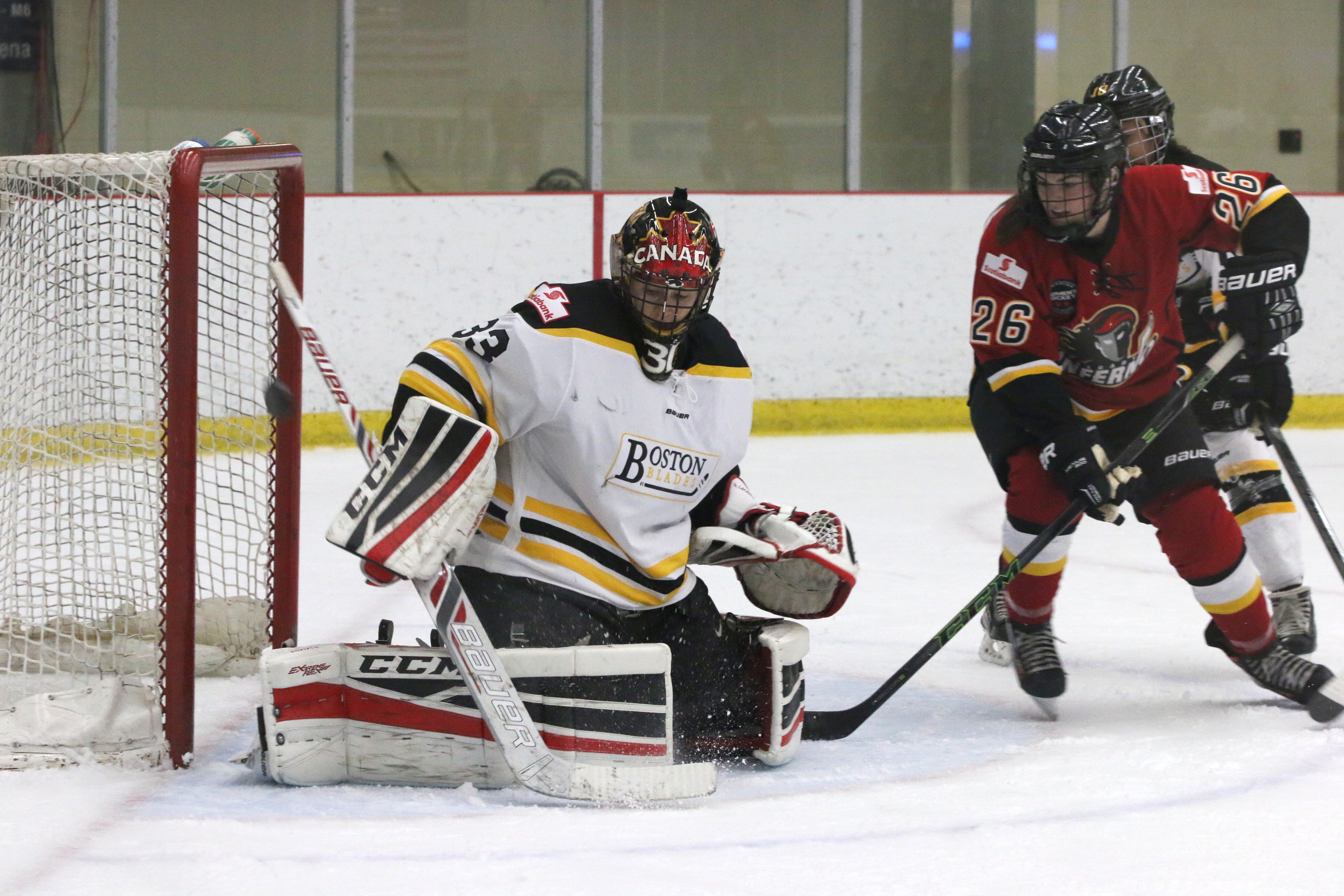 Genevieve Lacasse, who has faced nearly 50 shots per game in each of her starts for the Blades, will probably see similar action this weekend as Calgary comes into town.